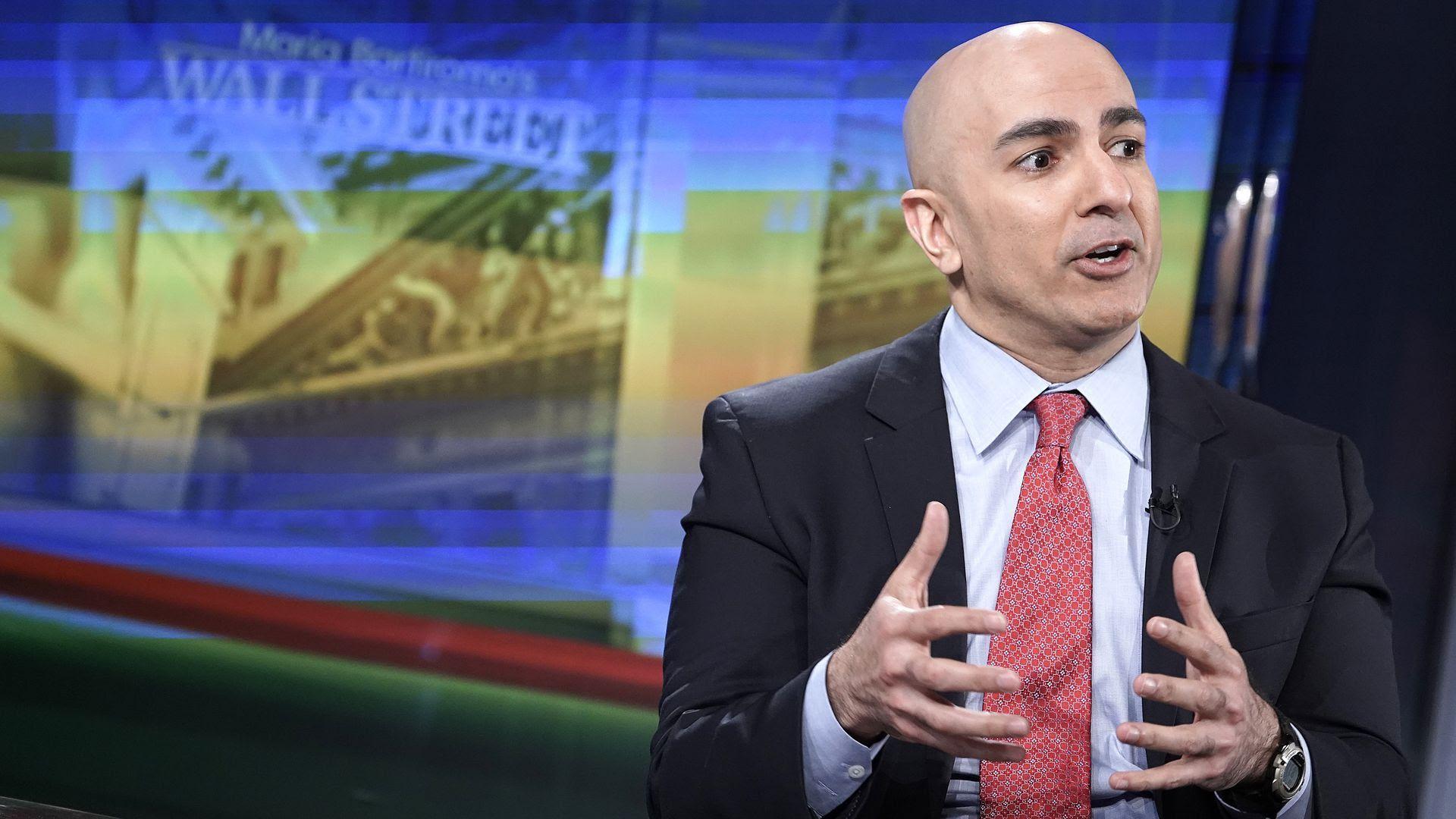 A photo of Minneapolis Fed CEO Neel Kashkari speaking.