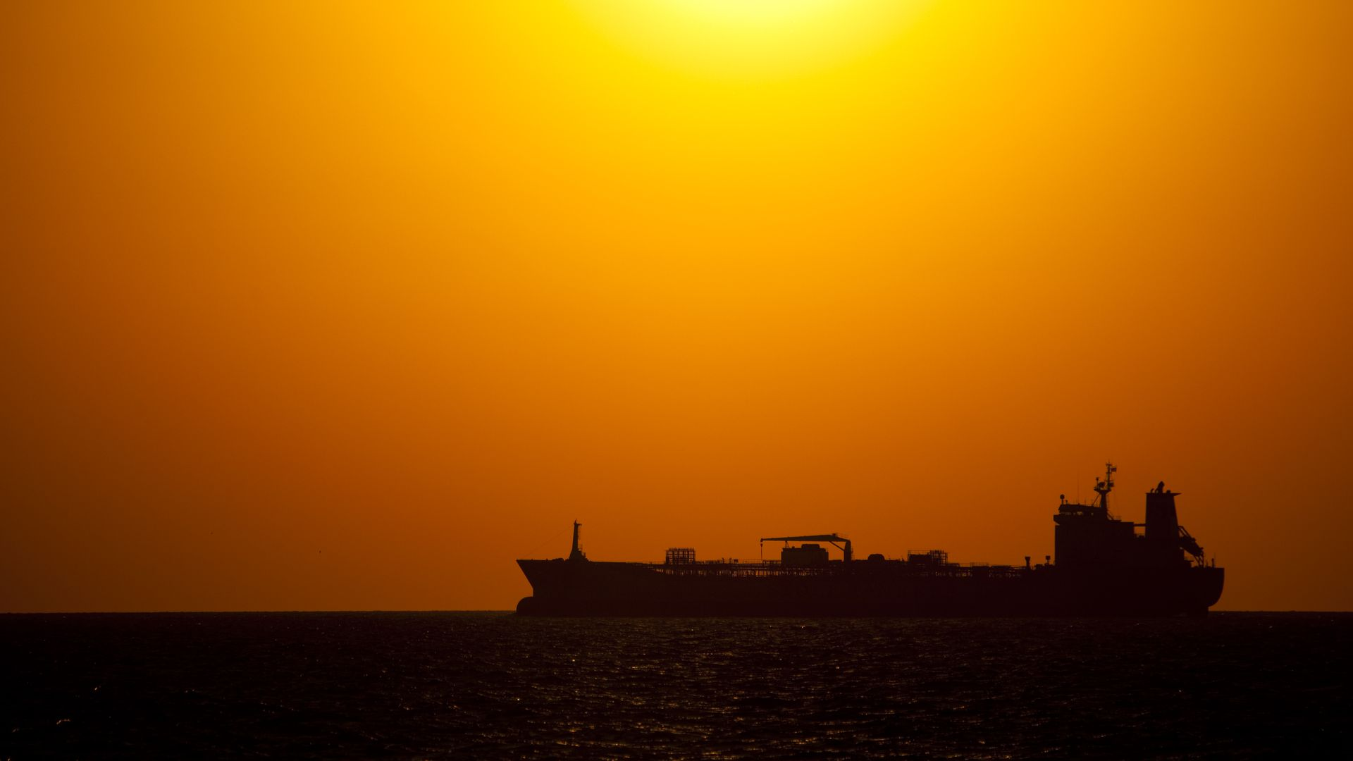 Oil tanker on Gulf of Mexico