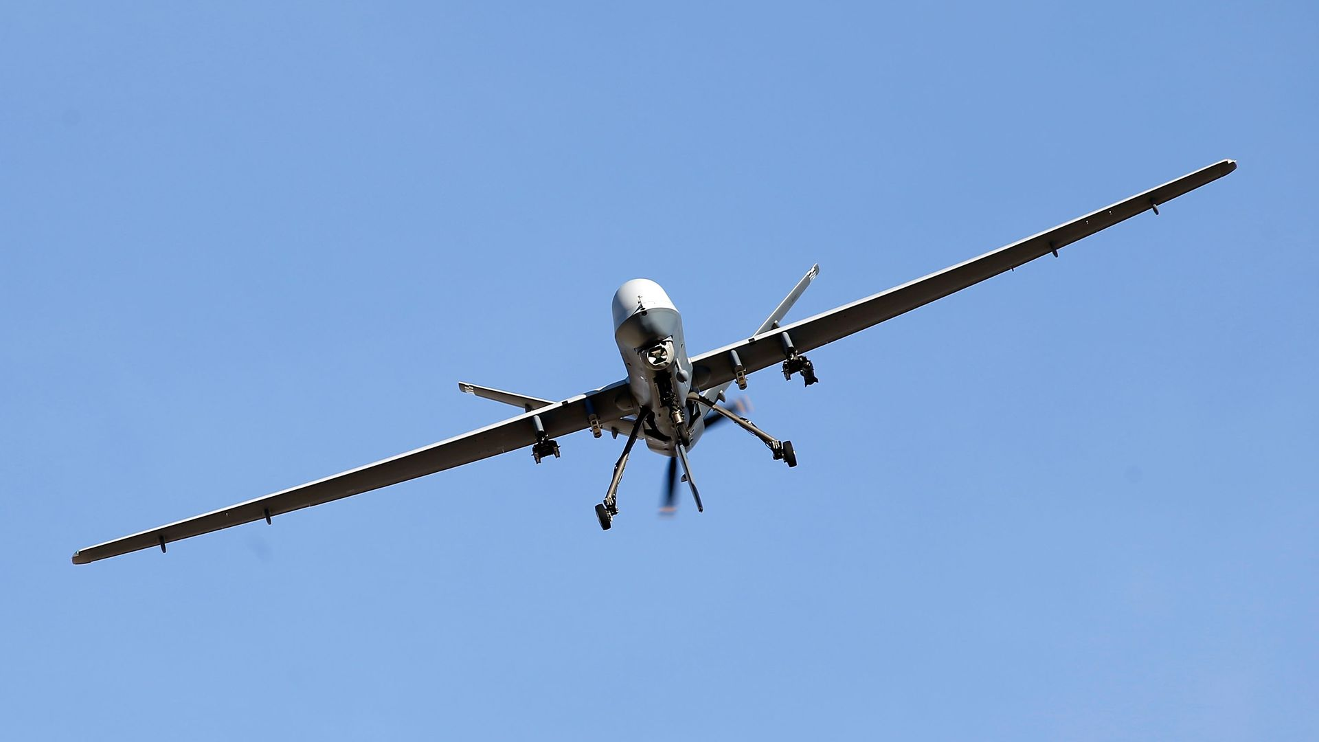 Reaper drone flying