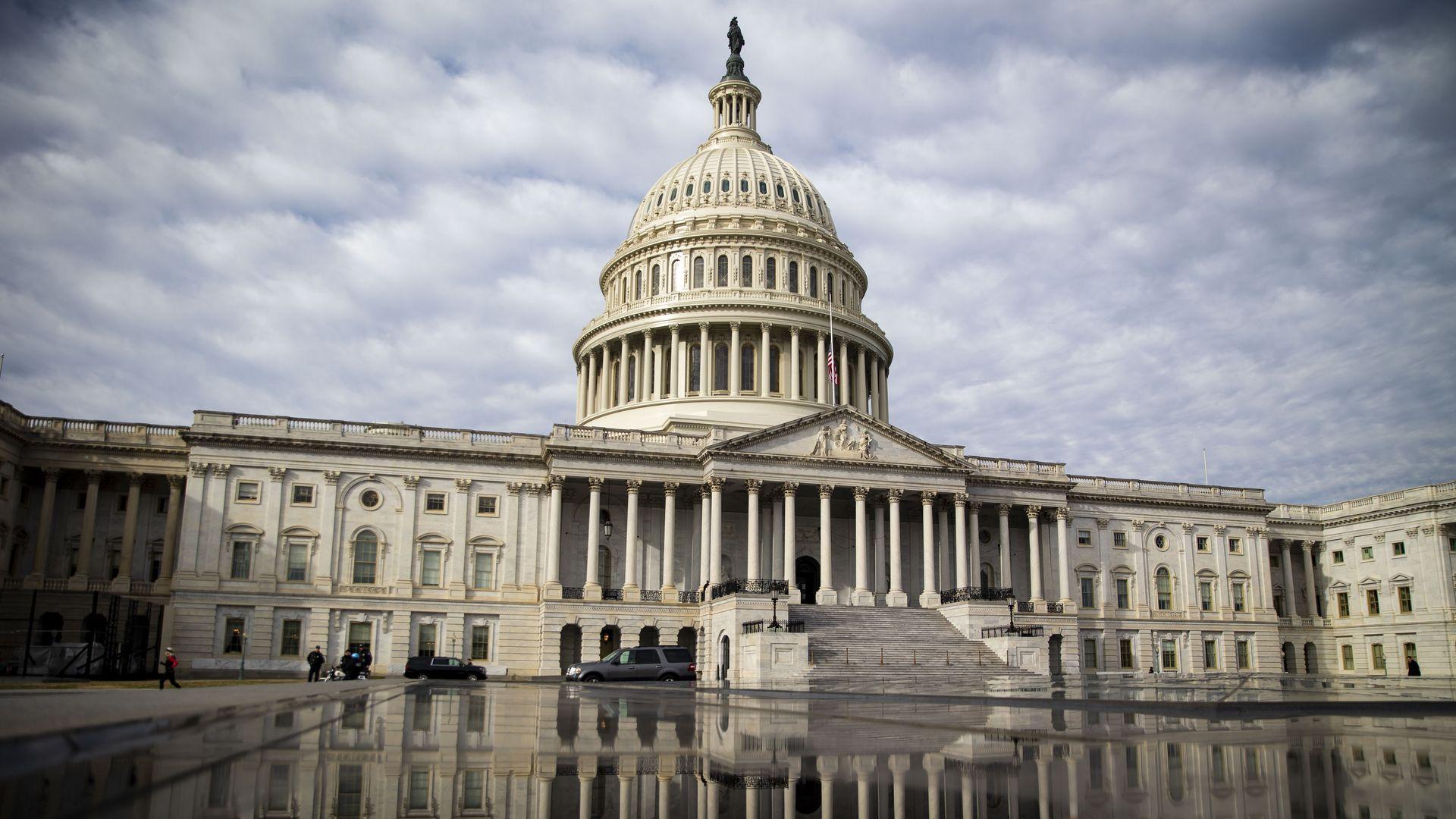 The U.S Capitol building.