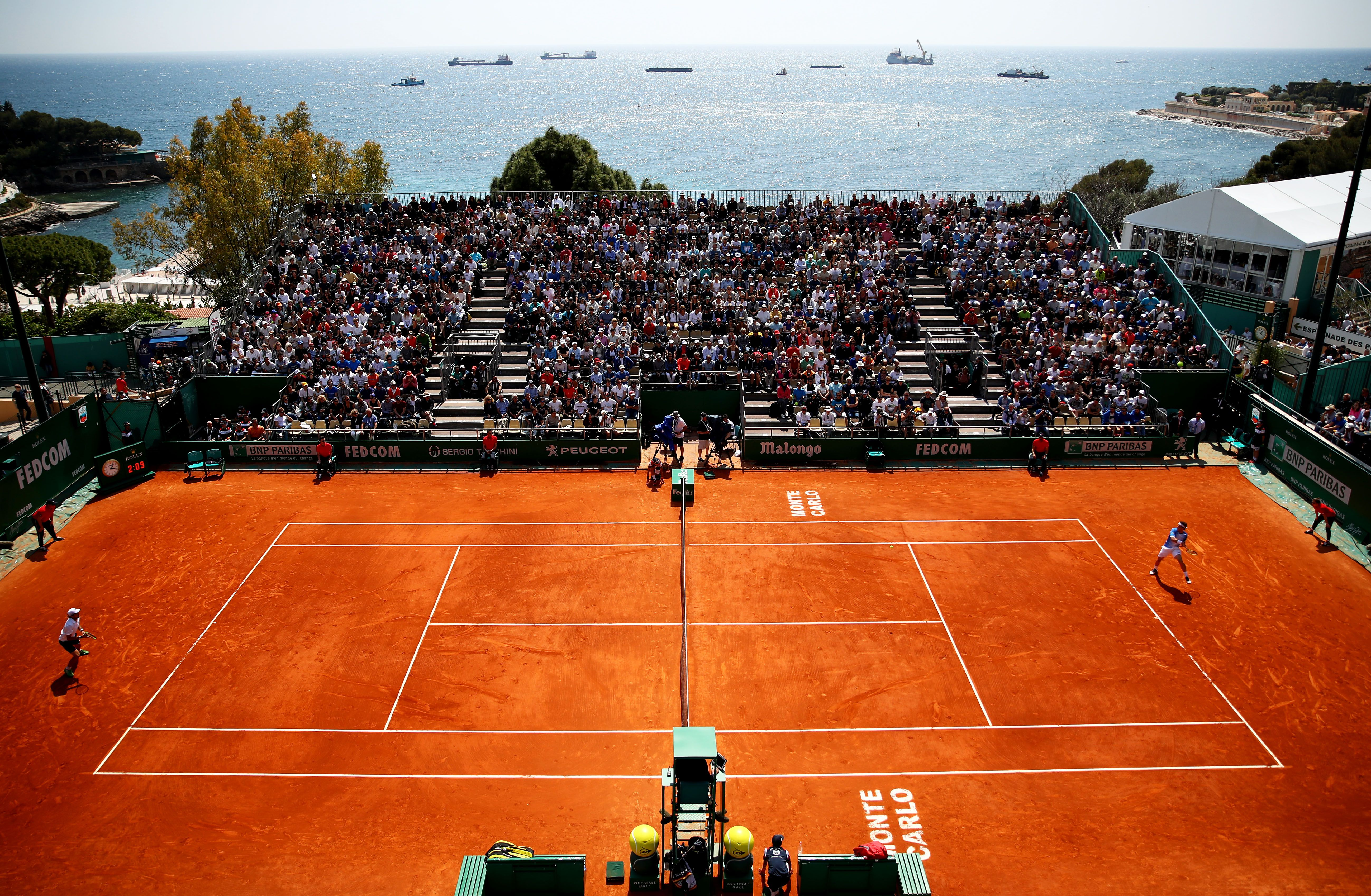 Court view at the Monte Carlo Masters