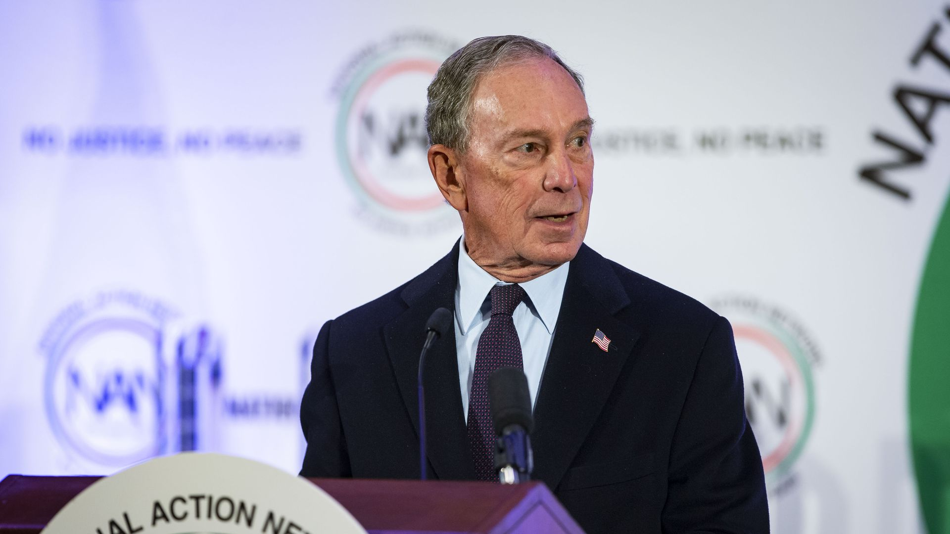 This is Michael Bloomberg, the billionaire who was formerly the mayor of New York City.