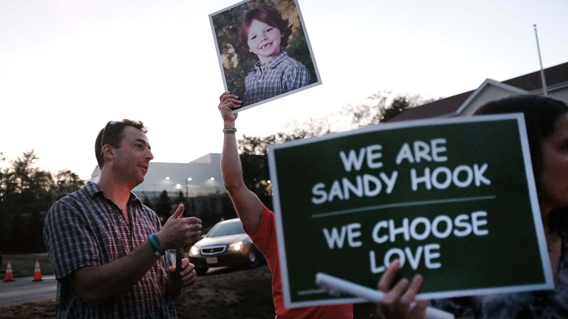 Protesters against gun violence in Sandy Hook