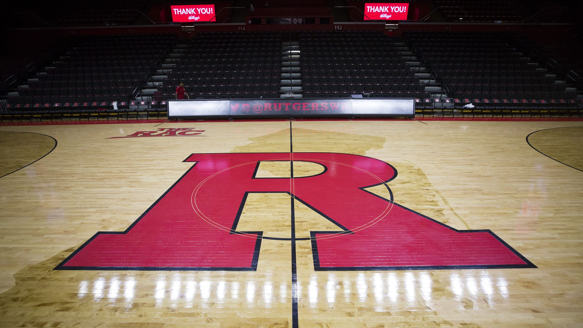 Rutgers basketball court.