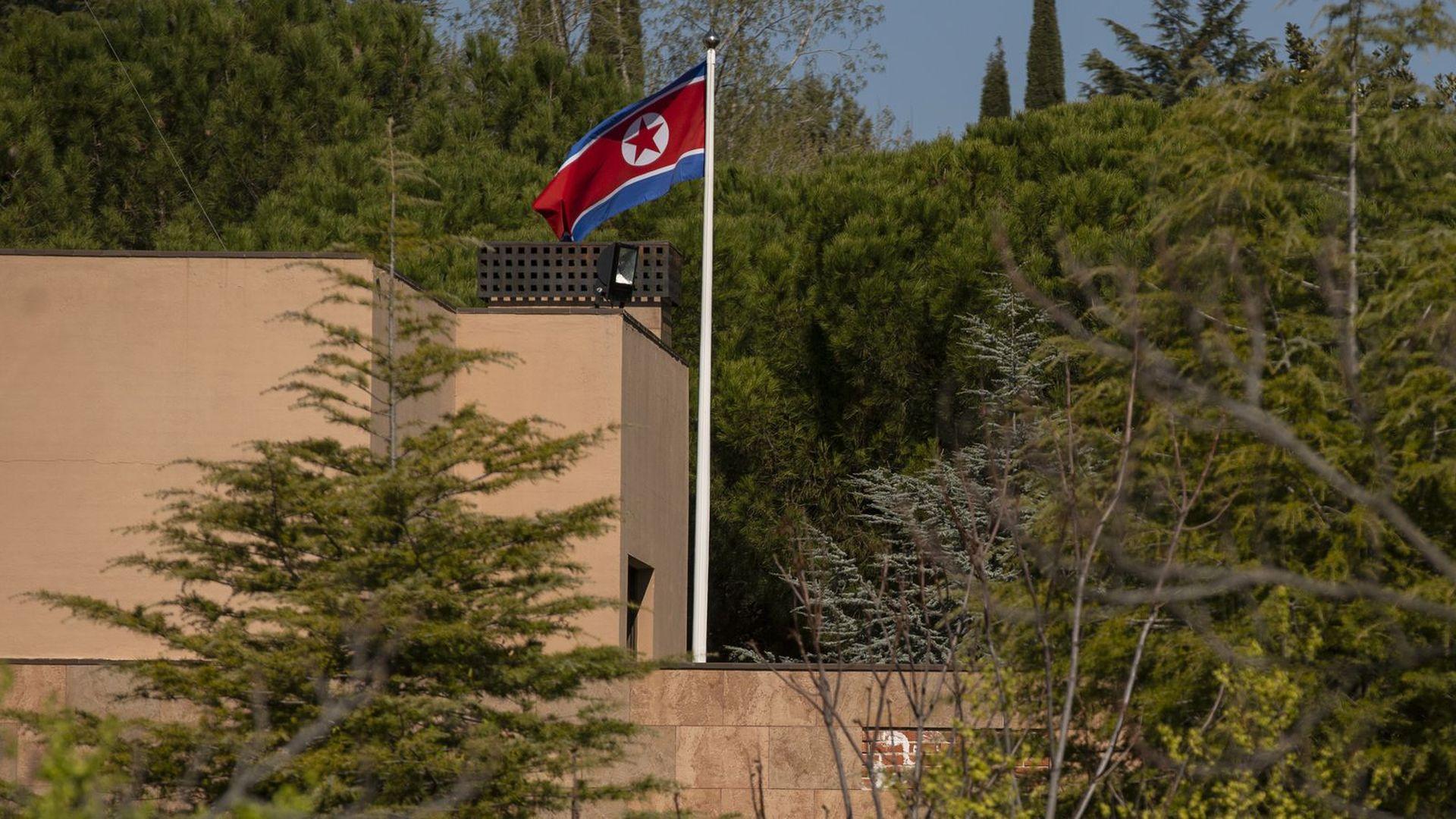 North Korea's embassy in Madrid, Spain.
