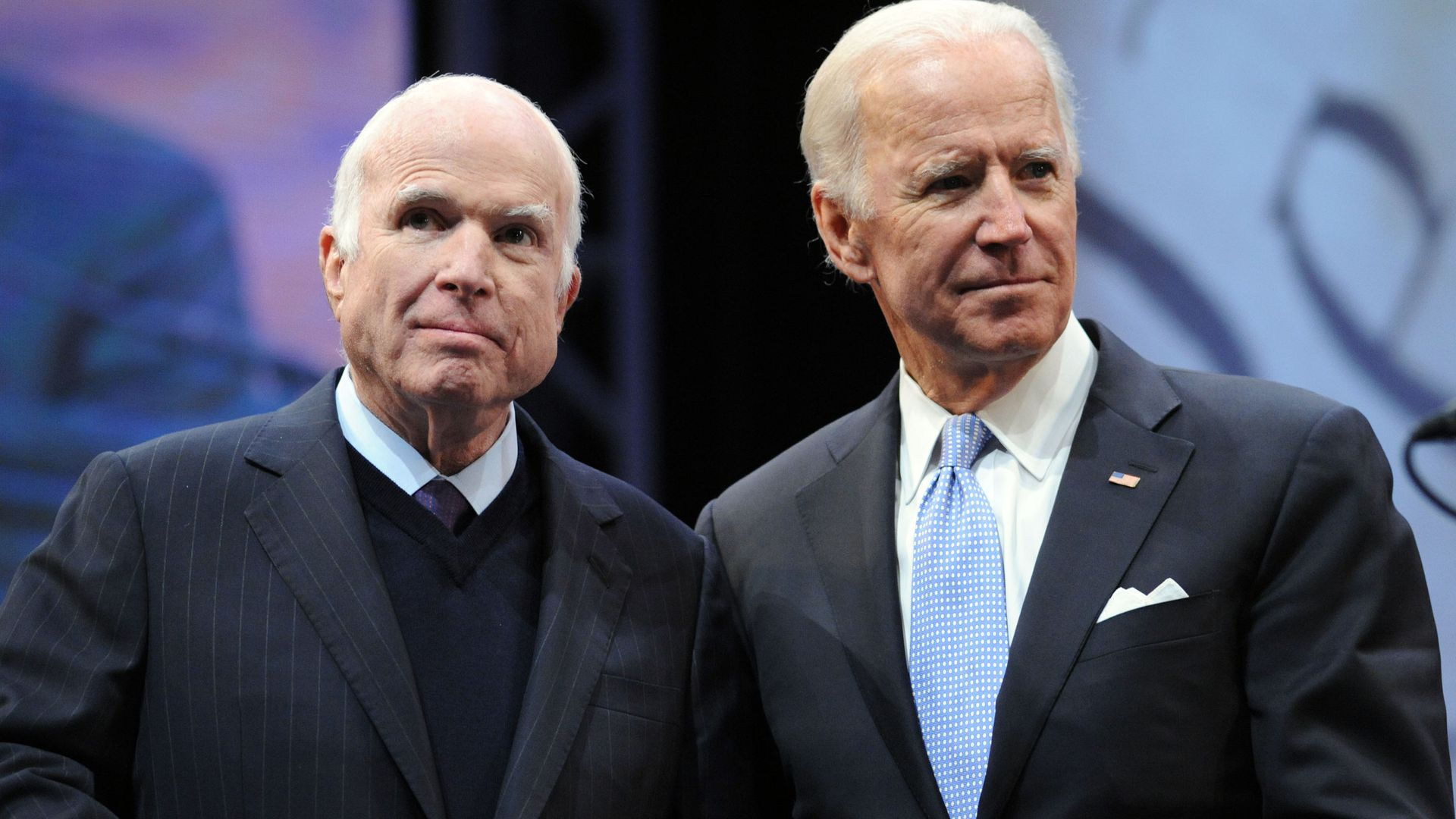 John McCain and Joe Biden