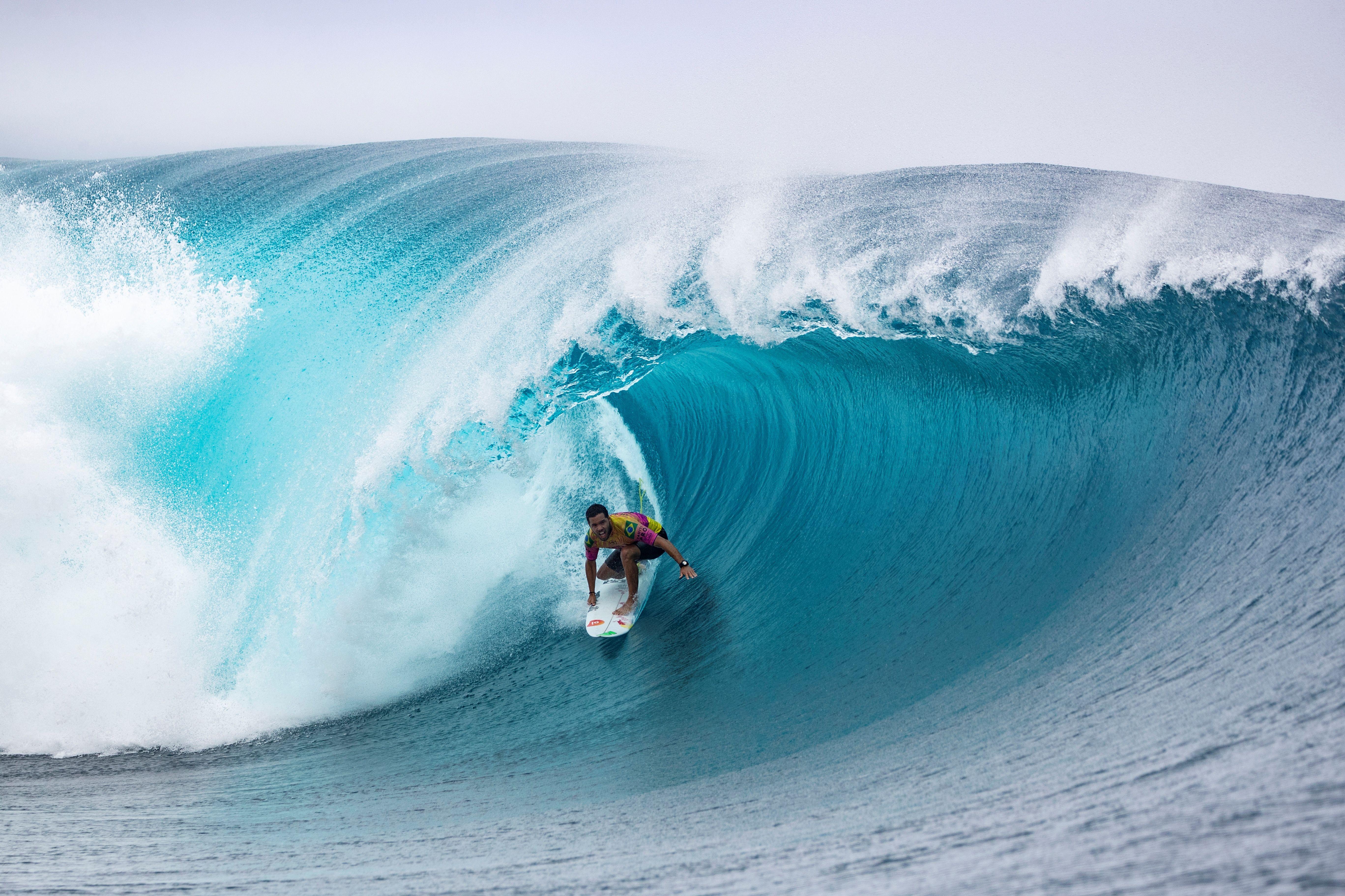 Surfing through a wave