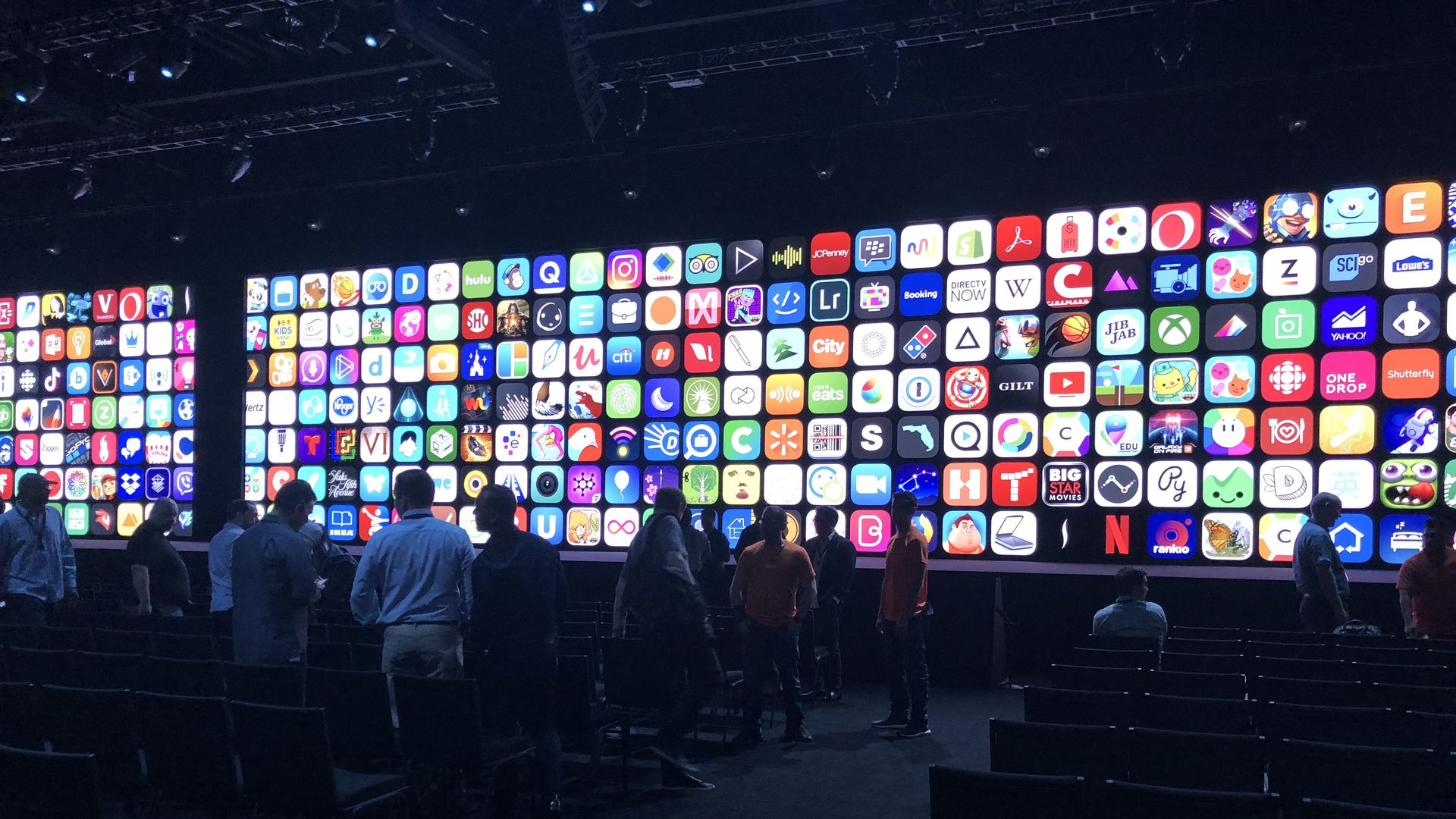 App icons at Apple's WWDC 2018.