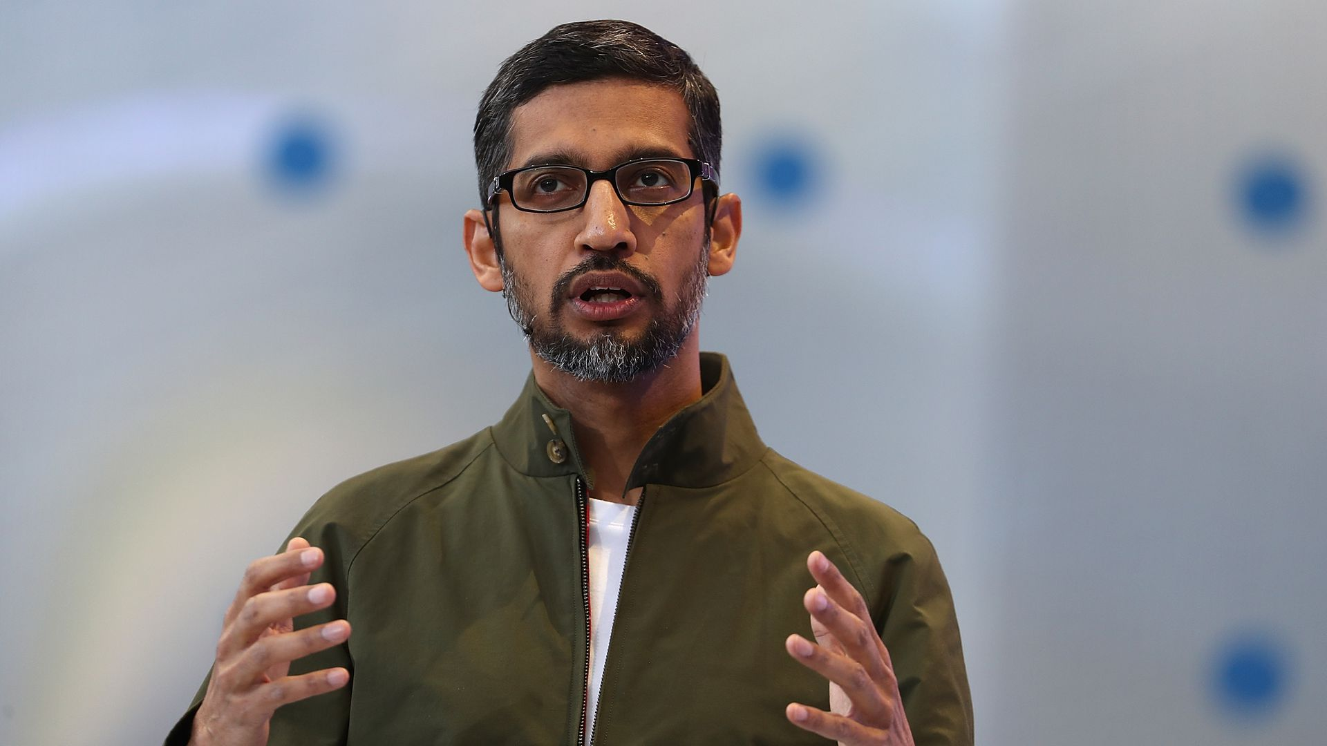 Google CEO Sundar Pichai, speaking at the company's I/O developer conference