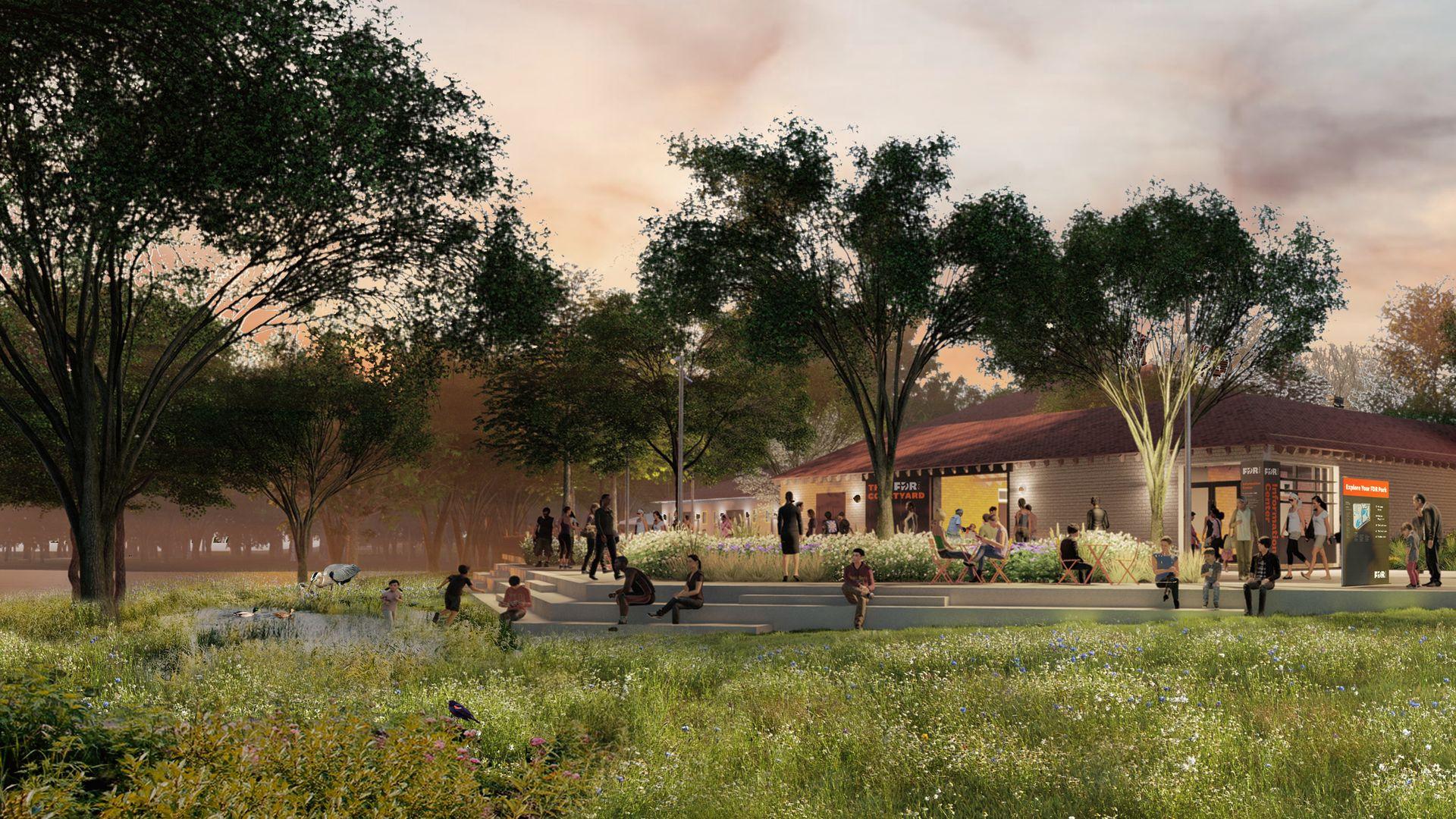 Renderings of FDR park upgrades