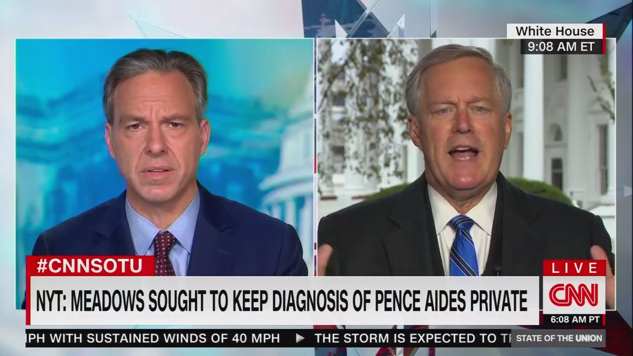 """Mark Meadows: """"We are not going to control the pandemic"""""""