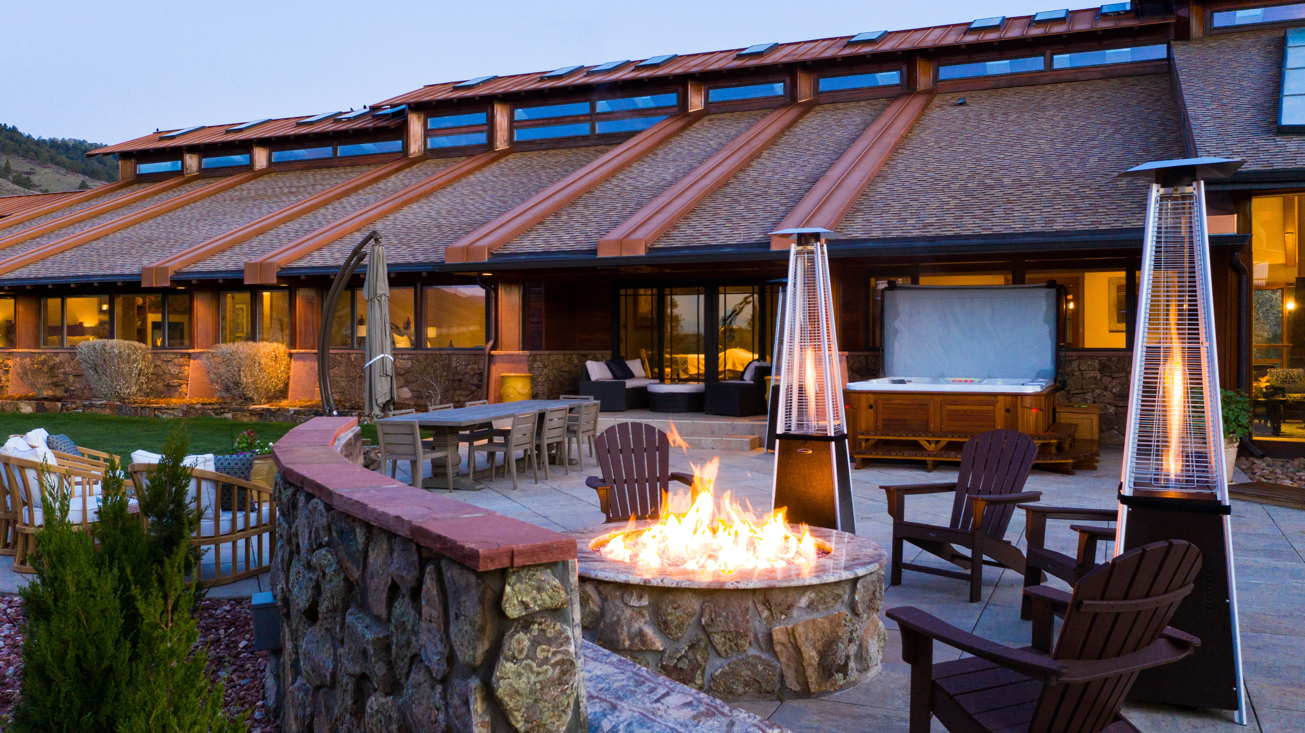 Colorado Mountain house on 35 acres asks $7M fire pit and hot tub