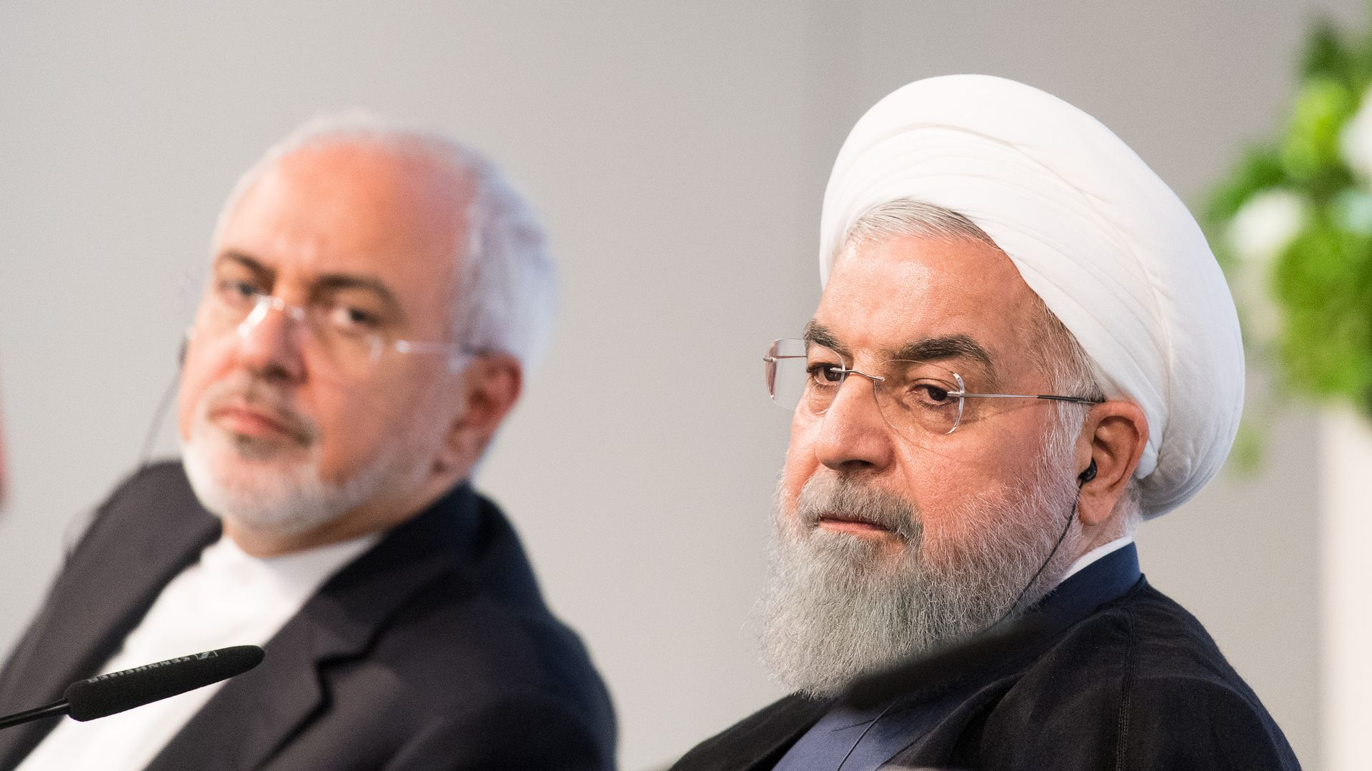 Iran's Foreign Minister Mohammad Javad Zarif and President Hassan Rouhani.
