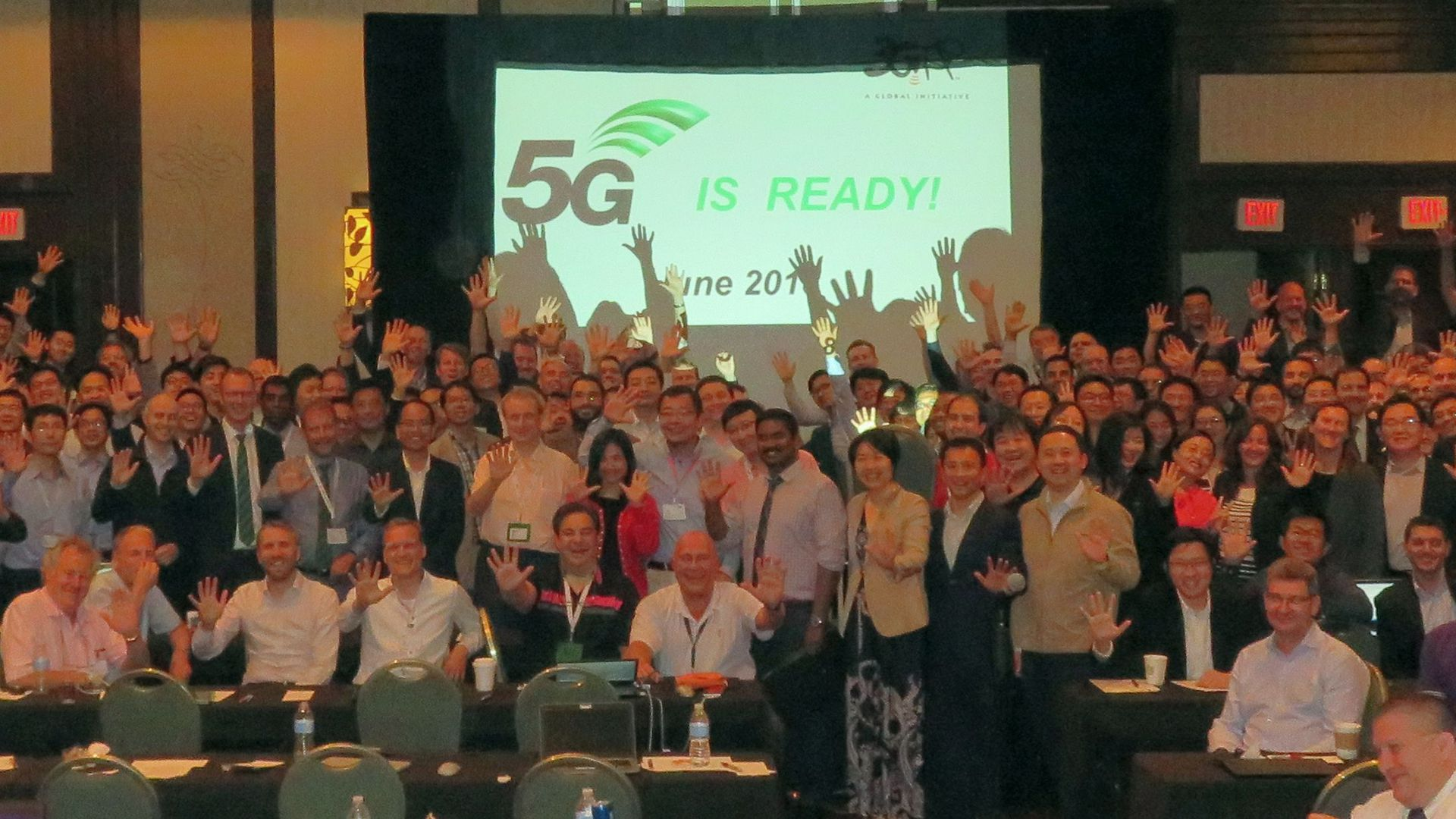 Group photo from last week's 5G meeting in La Jolla, Calif.
