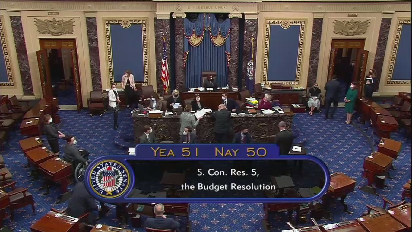Senate votes to advance budget resolution for Biden's relief plan after 15 hours of debate thumbnail