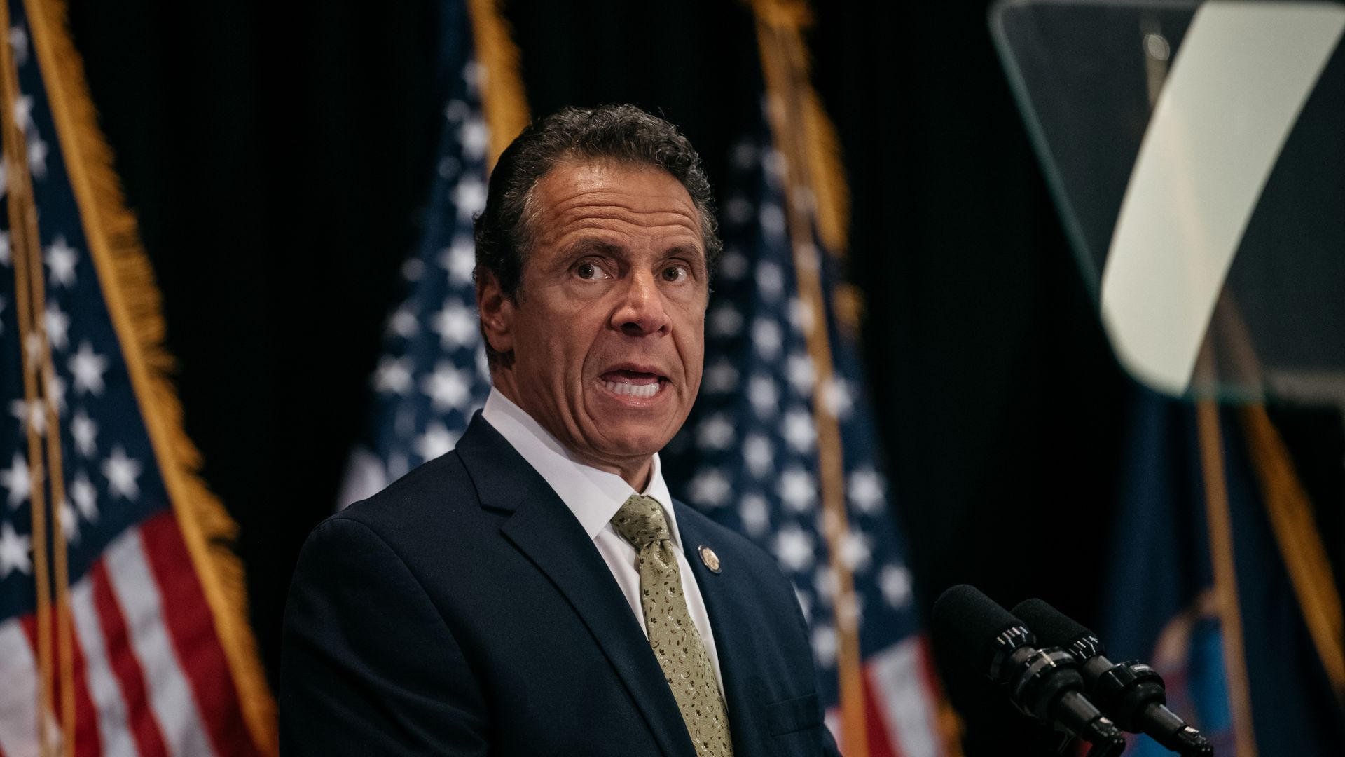 Andrew Cuomo speaks at an event