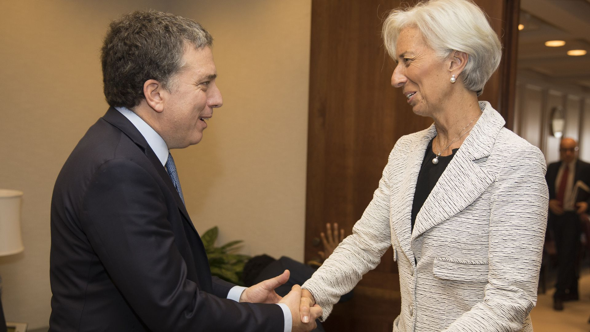 International Monetary Director Christine Lagarde meets Argentine Treasury Minister Nicolas Dujovne