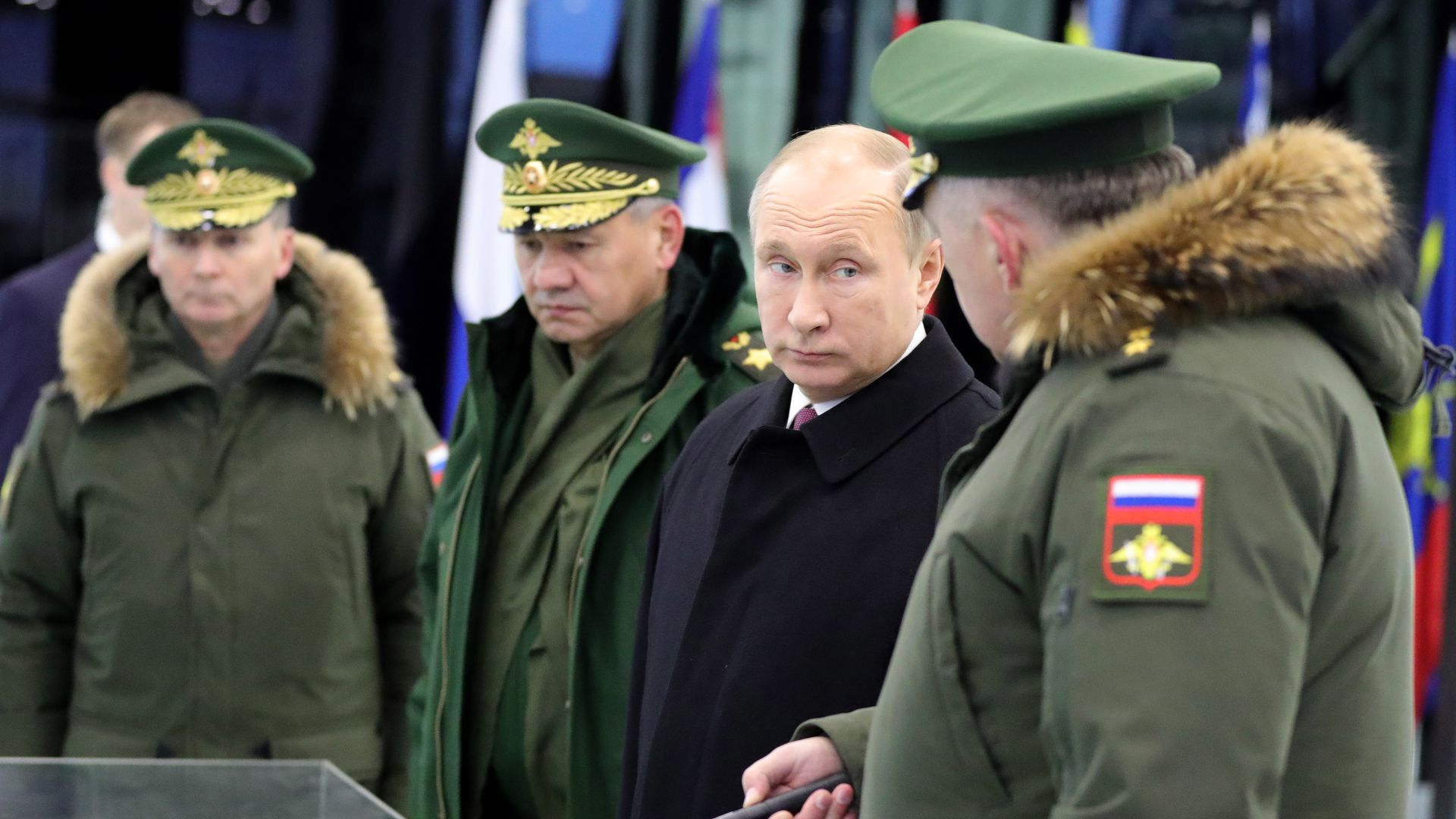 Putin with military generals