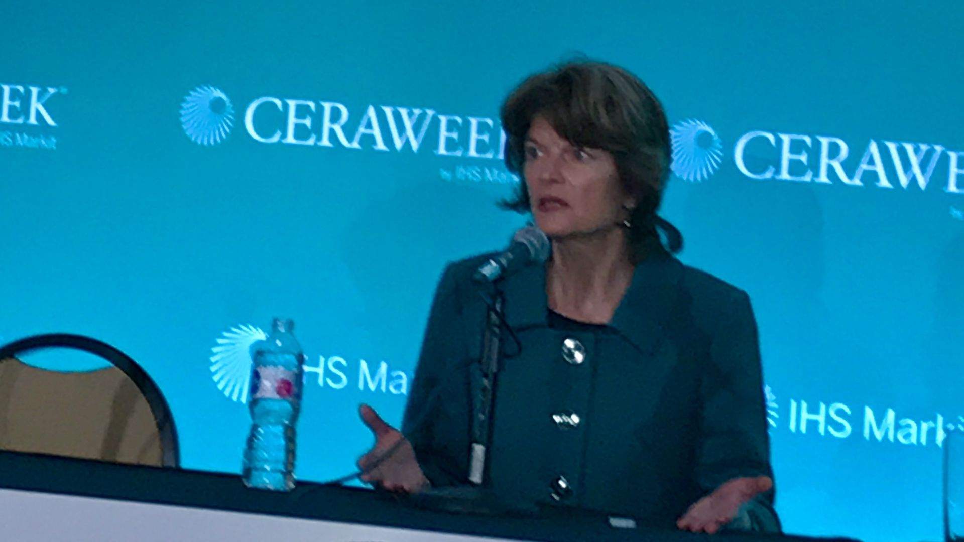 Sen. Lisa Murkowski, Republican from Alaska, at energy conference in Houston