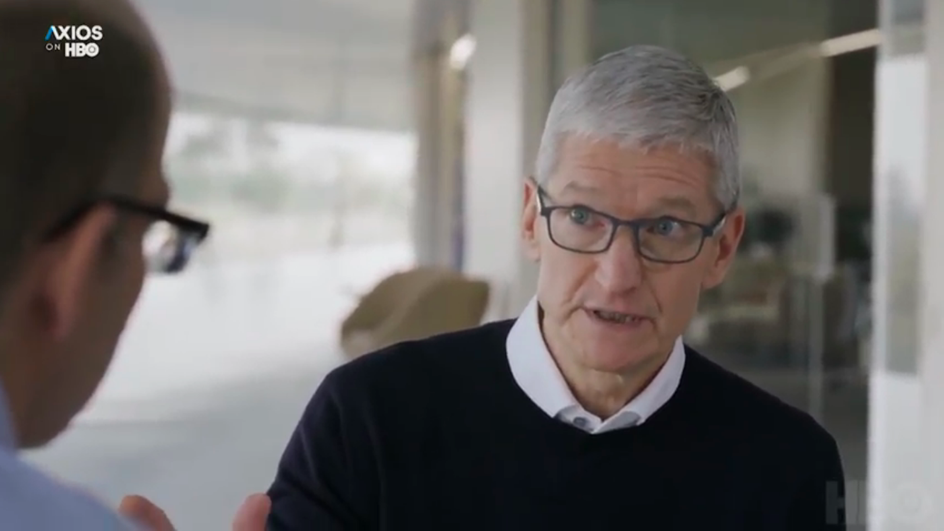 Apple CEO Tim Cook speaks to Axios' Mike Allen and Ina Fried