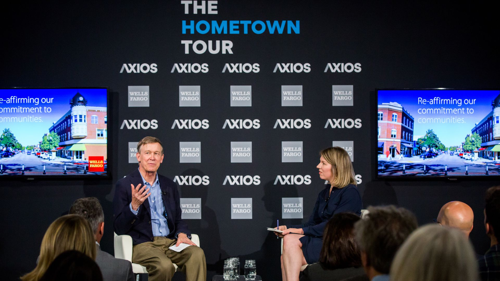 Axios Managing Editor Kim Hart in conversation with Governor Hickenlooper