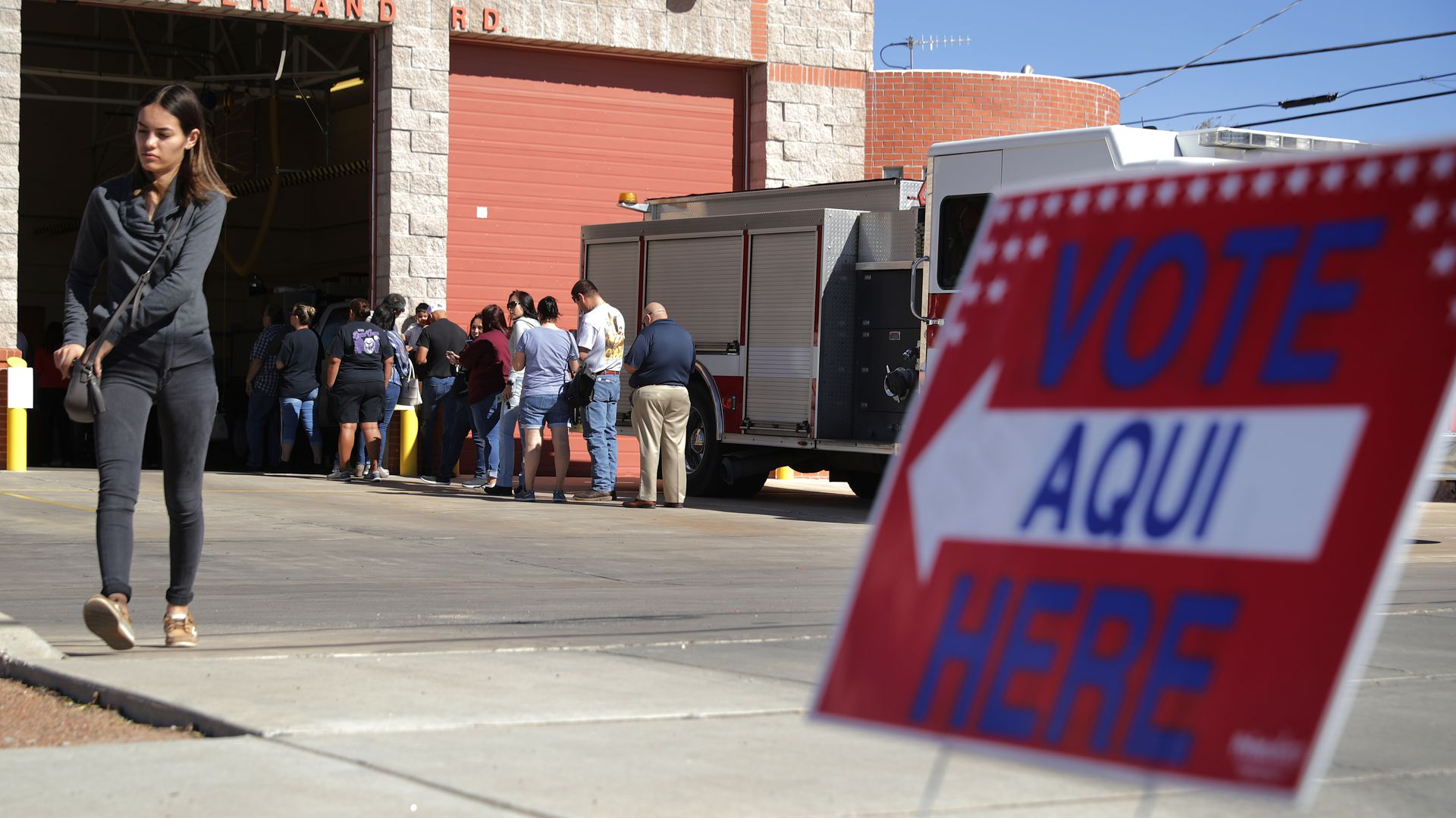 A federal judge has ordered Texas officials to halt the removal of any registered voter from state voter rolls.