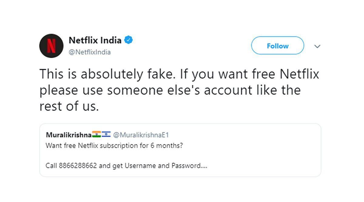 Netflix India on Twitter