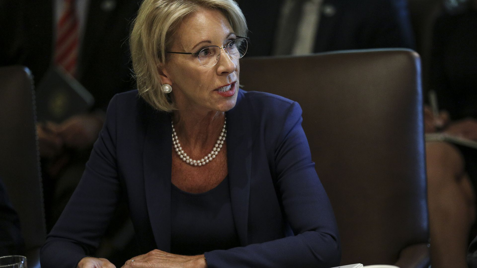 Betsy Devos Threat To Children With >> Democrats Accuse Education Department Of Interfering In Probe Of