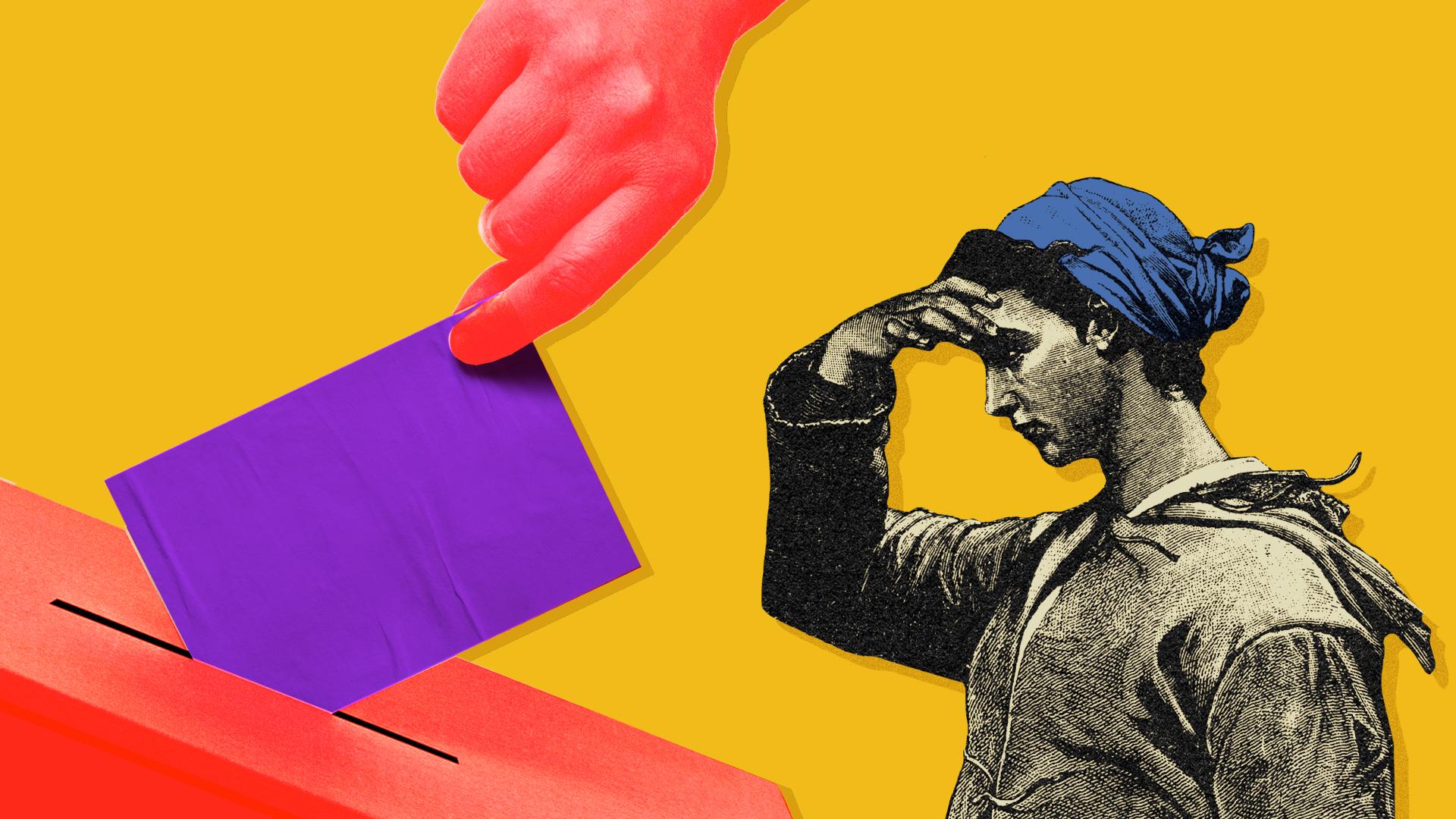 Voting box illustration