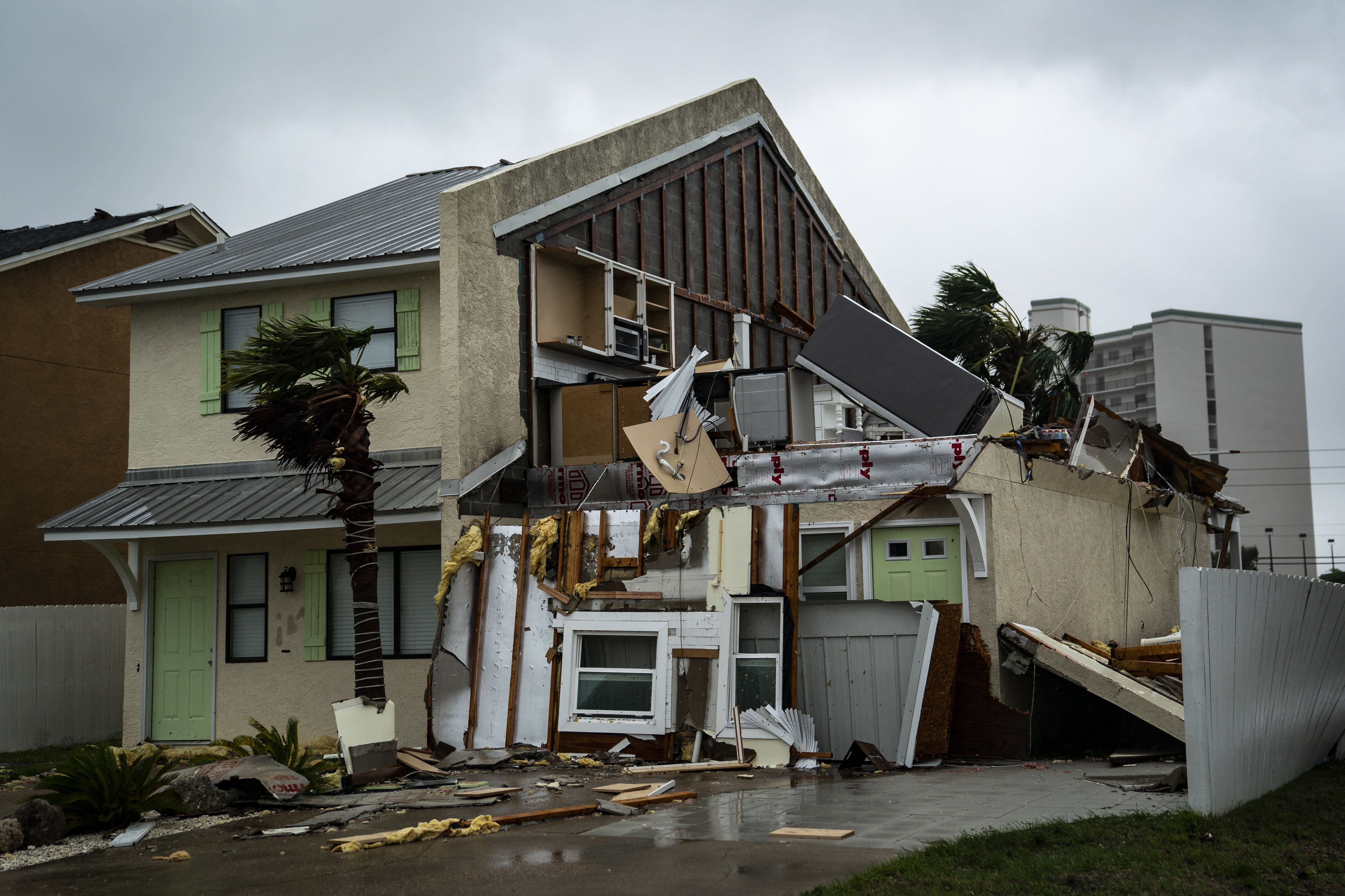 Destroyed home in Panama City, Florida