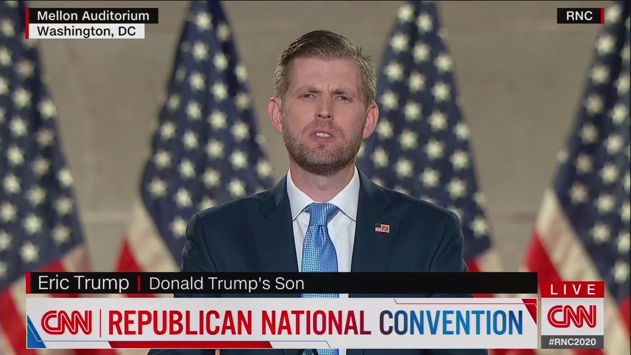 "Eric Trump says Democrats view the U.S. as ""the source of the world's problems"" thumbnail"
