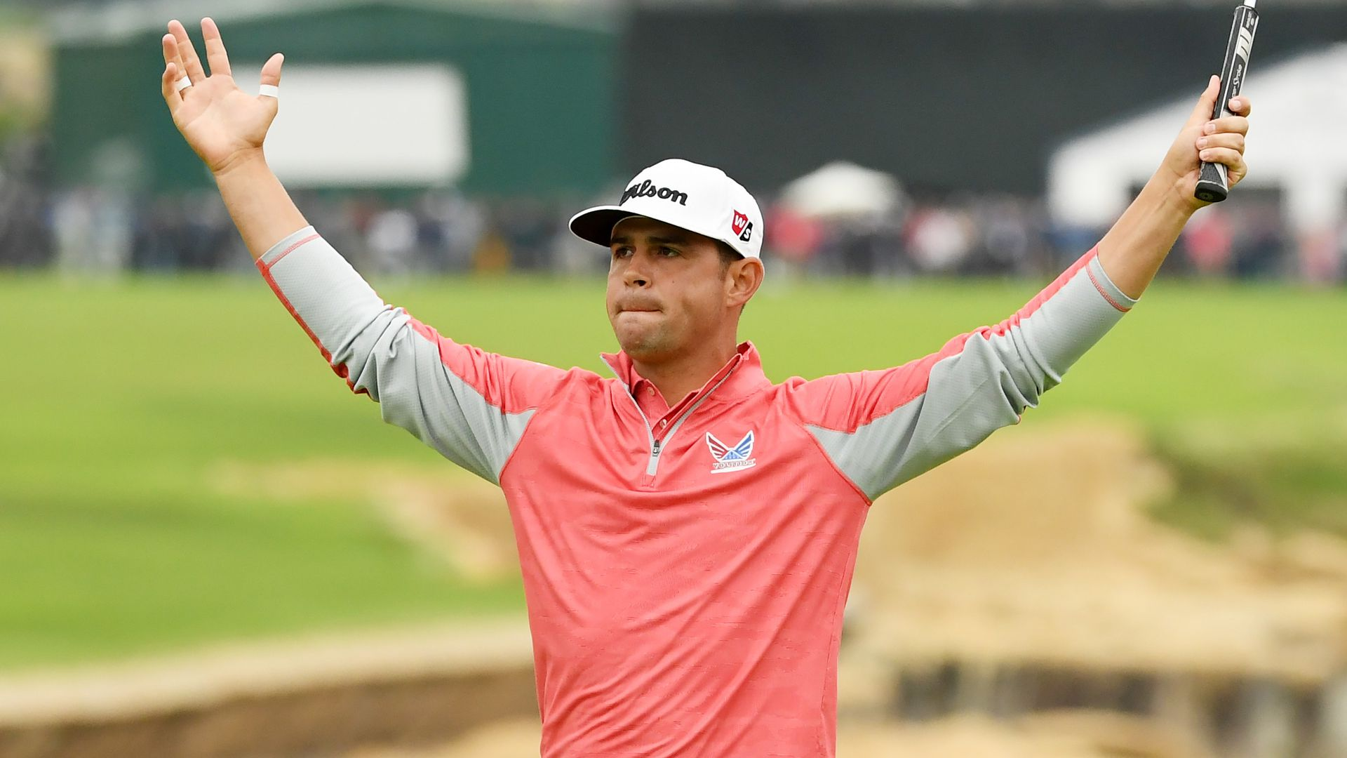 Gary Woodland after winning the US Open