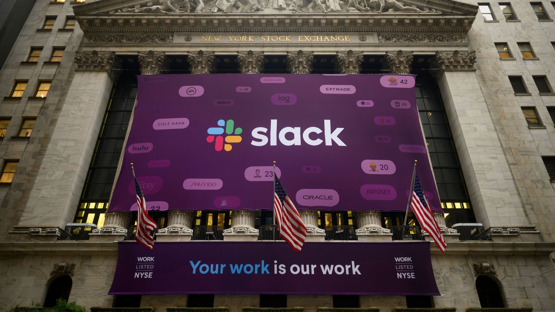 Slack goes public at the New York Stock Exchange