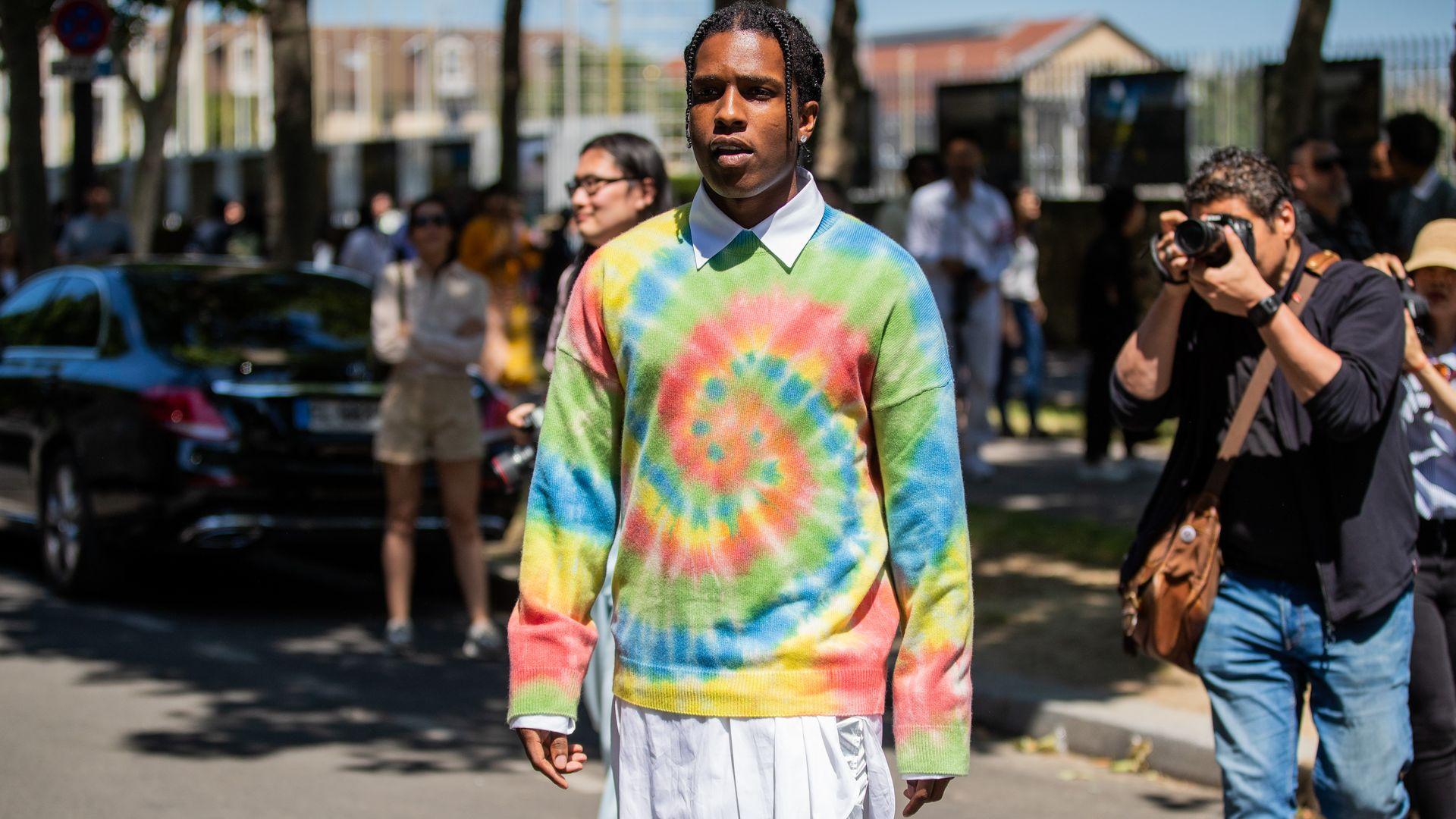 Rapper A$AP Rocky at Paris Fashion Week