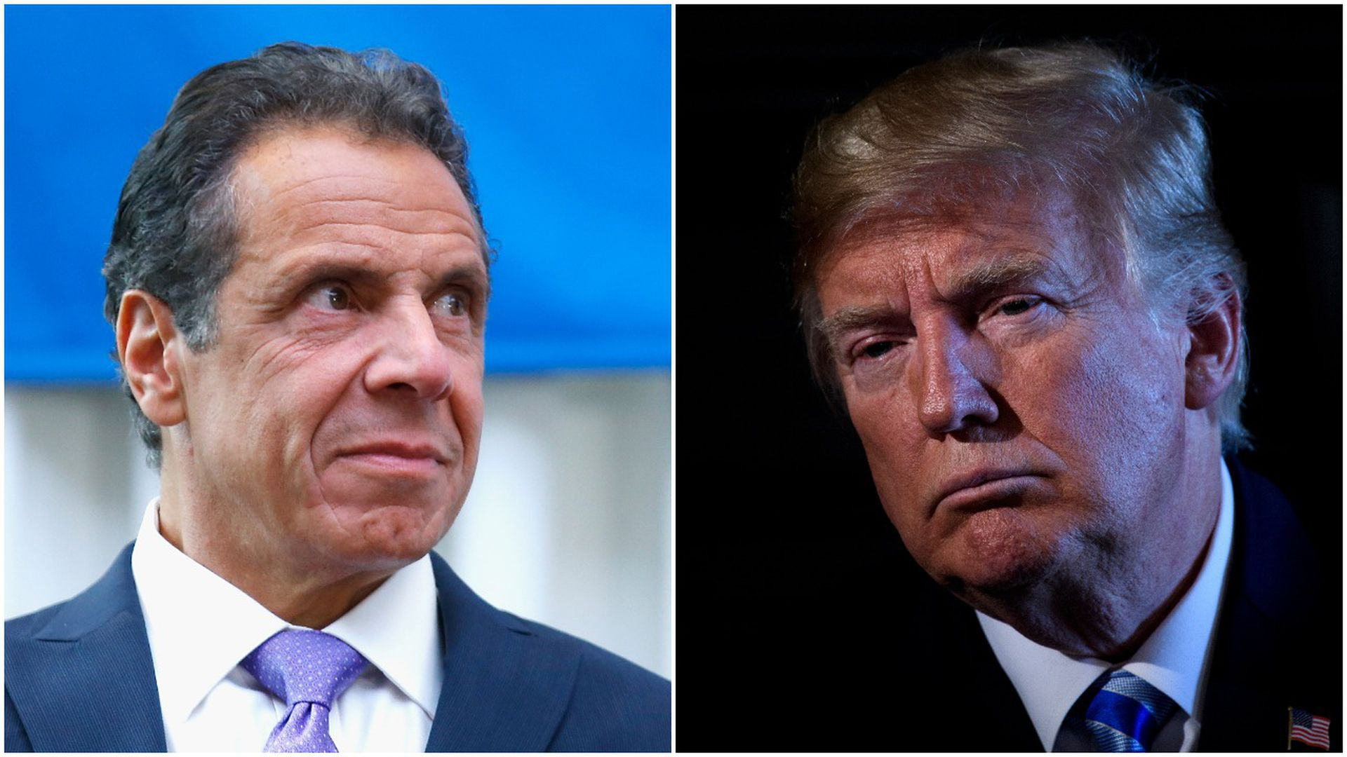 Side by side photo of Andrew Cuomo and Donald Trump