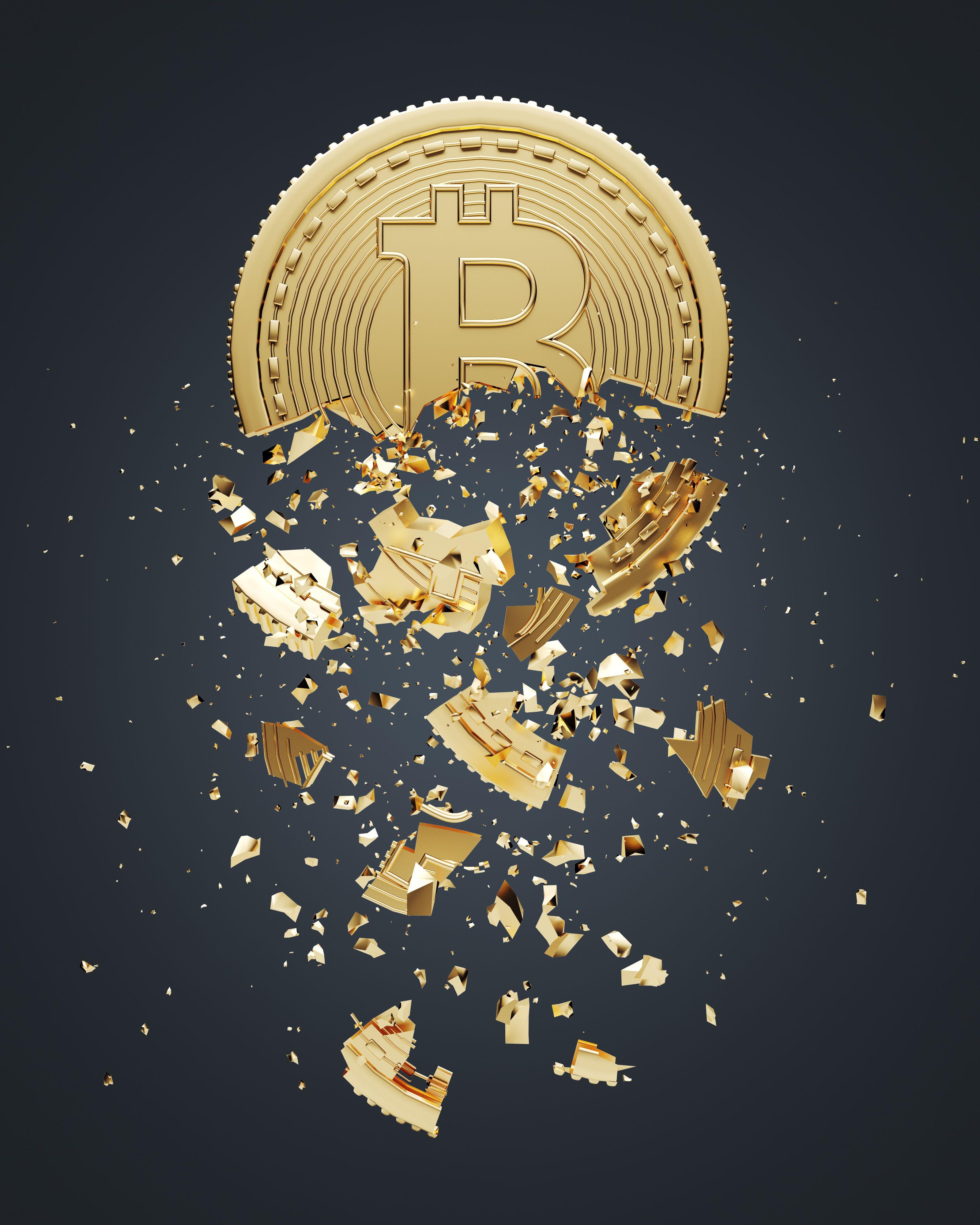 Bitcoin falls apart