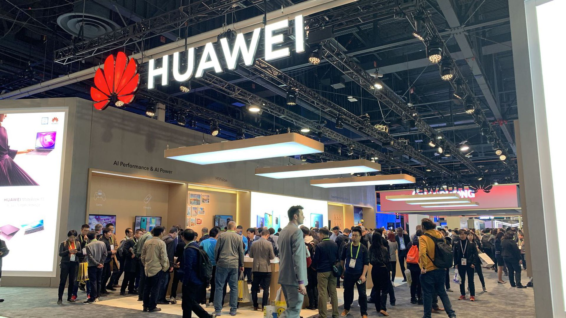 Huawei's booth at CES 2019