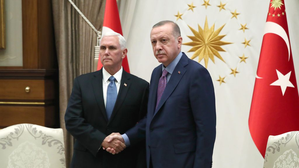 Pence announces temporary cease fire in Syria