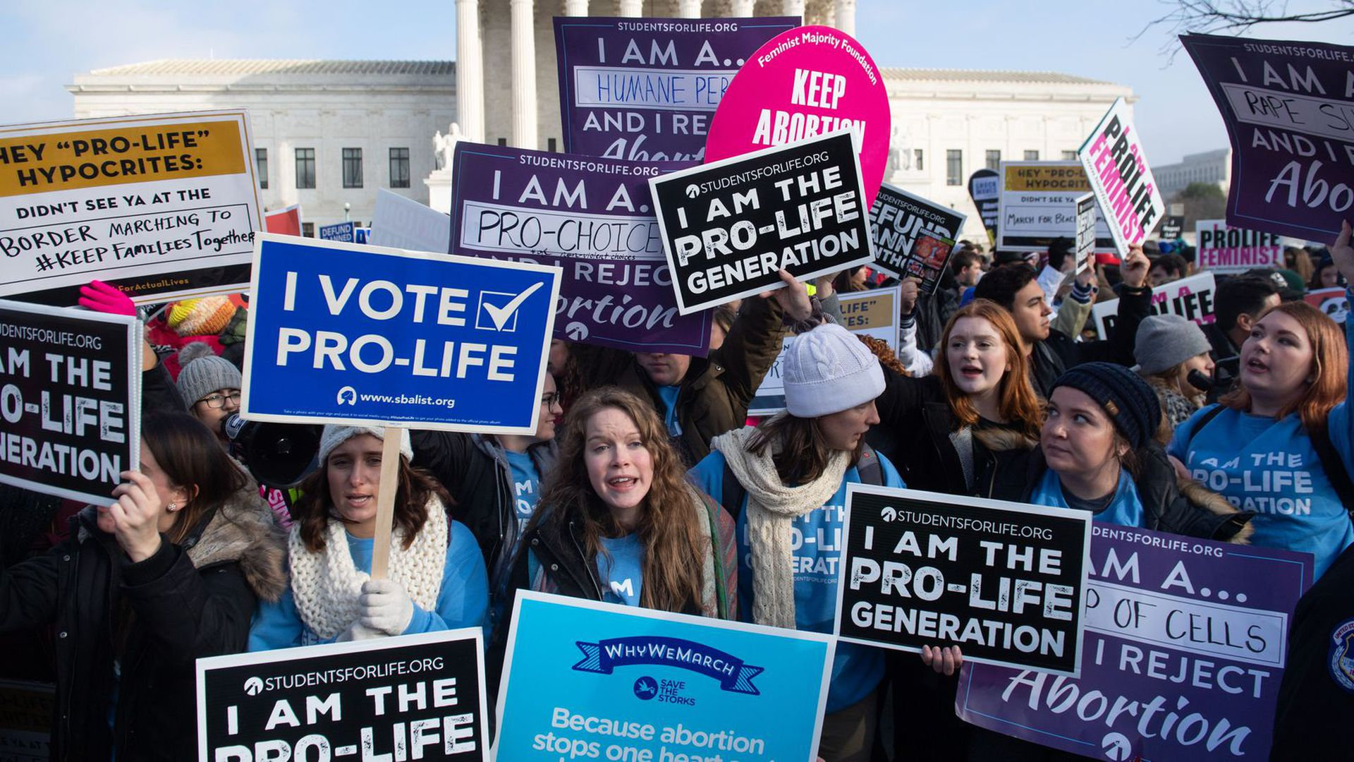 A pro-life rally in Washington, D.C.