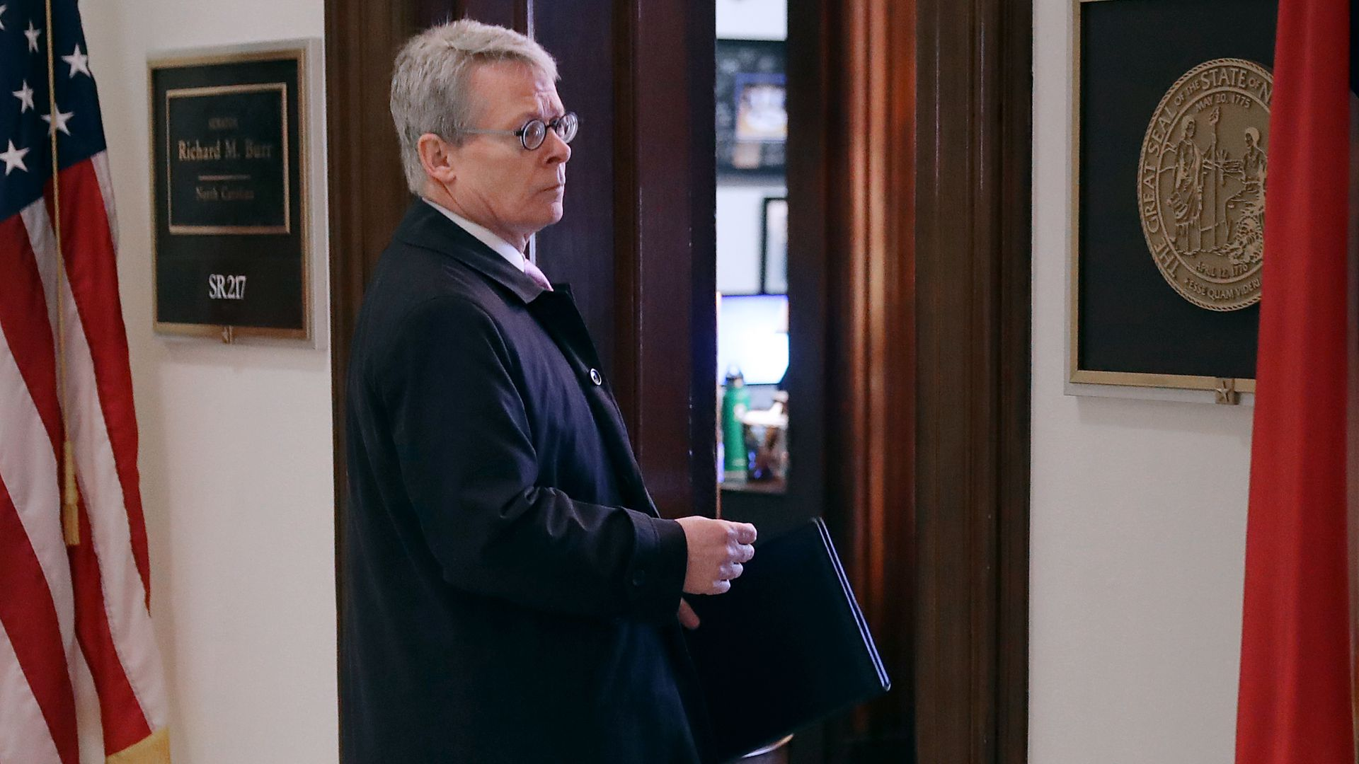 White House Counsel Emmet Flood walks into the offices of Senate Intelligence Committee Chairman Richard Burr (R-NC) on Capitol Hill January 09, 2019 in Washington, DC.