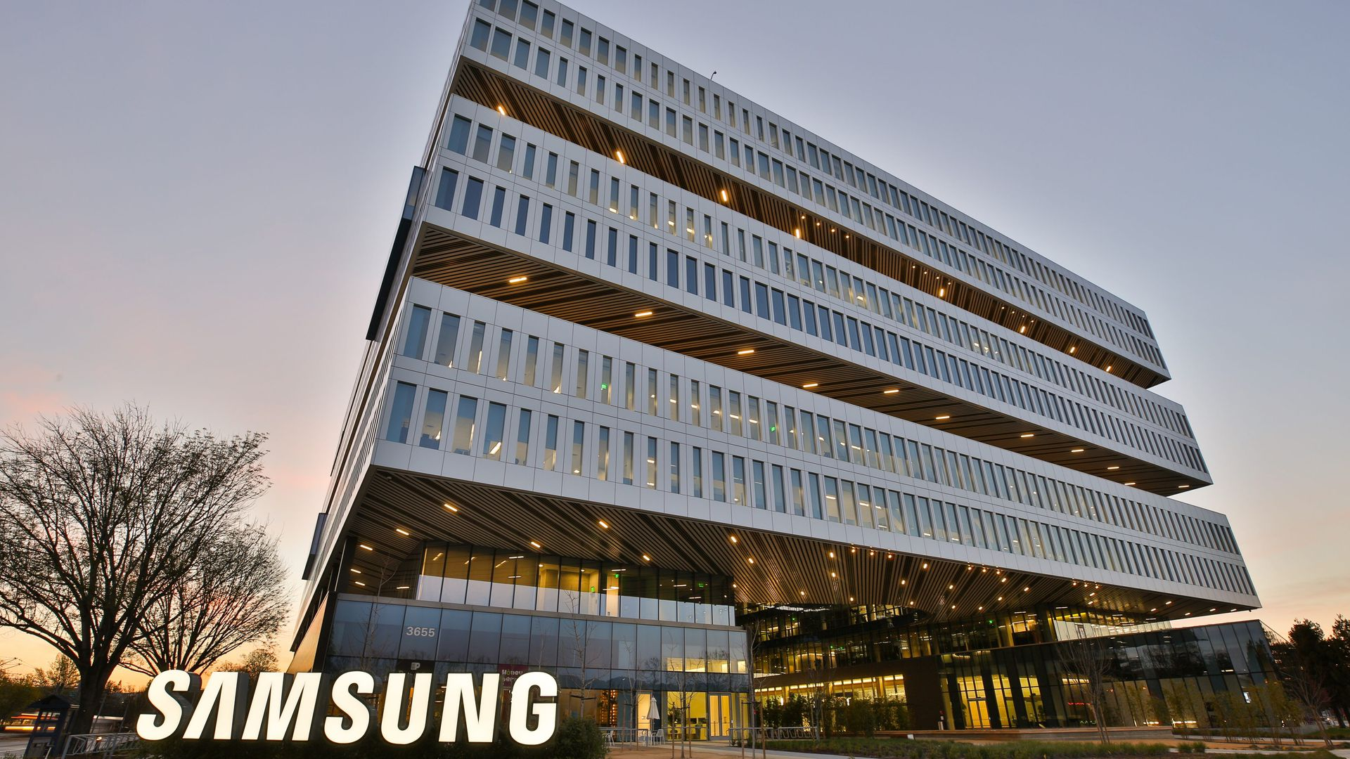 Samsung's offices in San Jose, Calif.