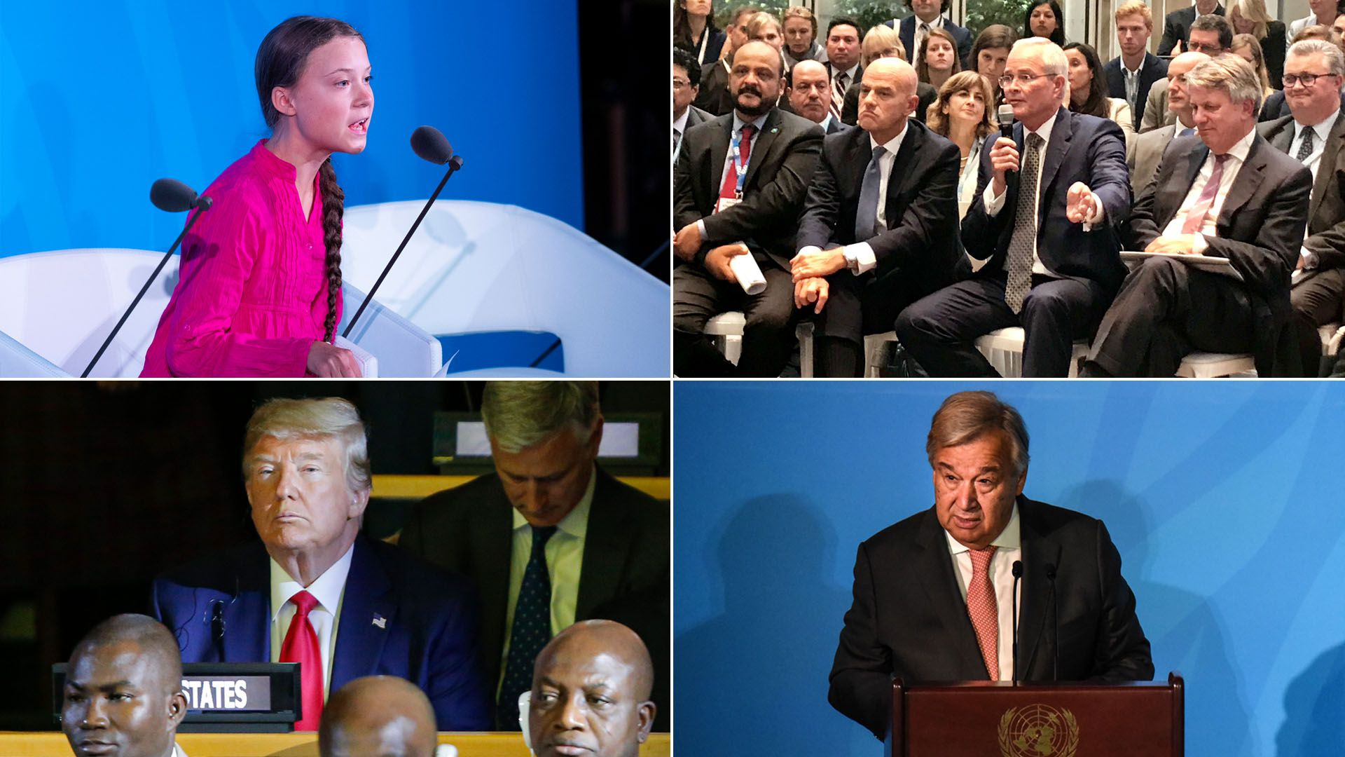 Photo montage of the UN climate summit