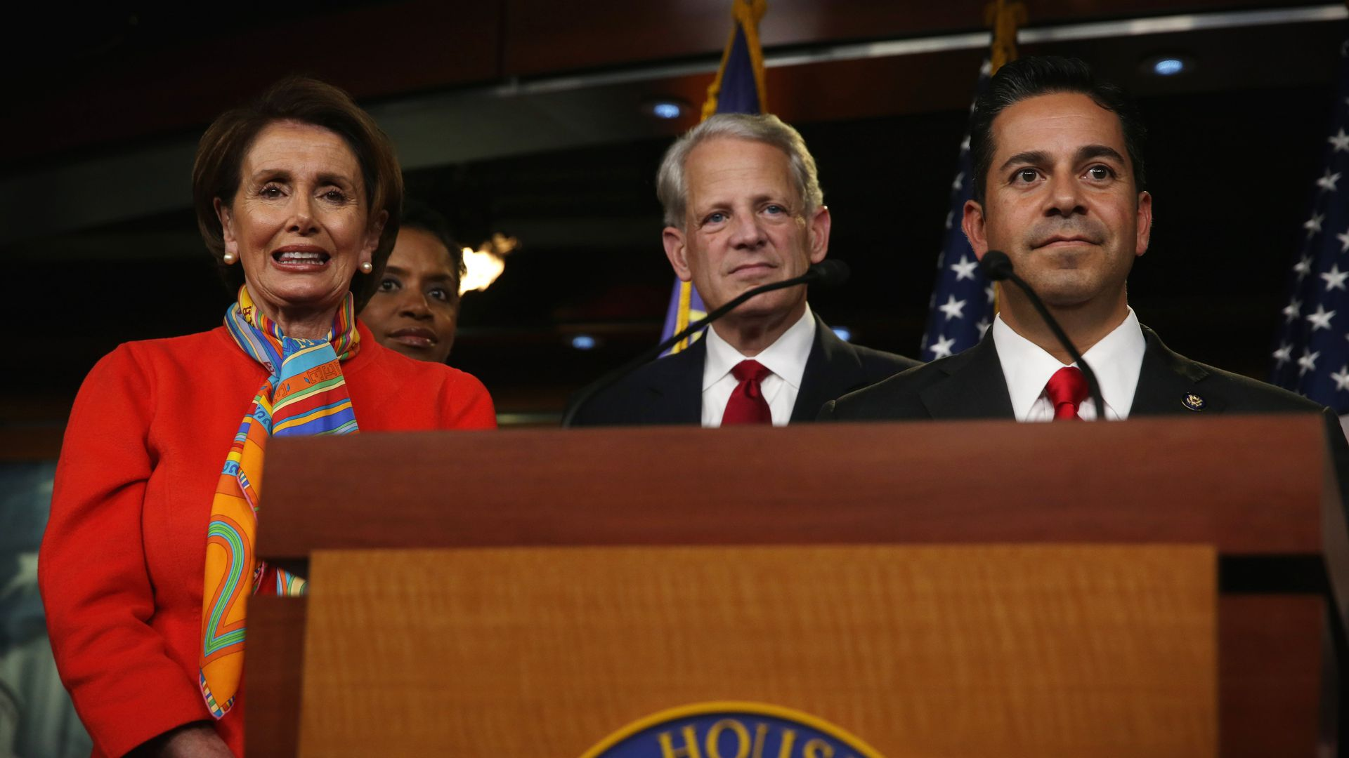 Speaker of the House Nancy Pelosi with Ben Ray Luján