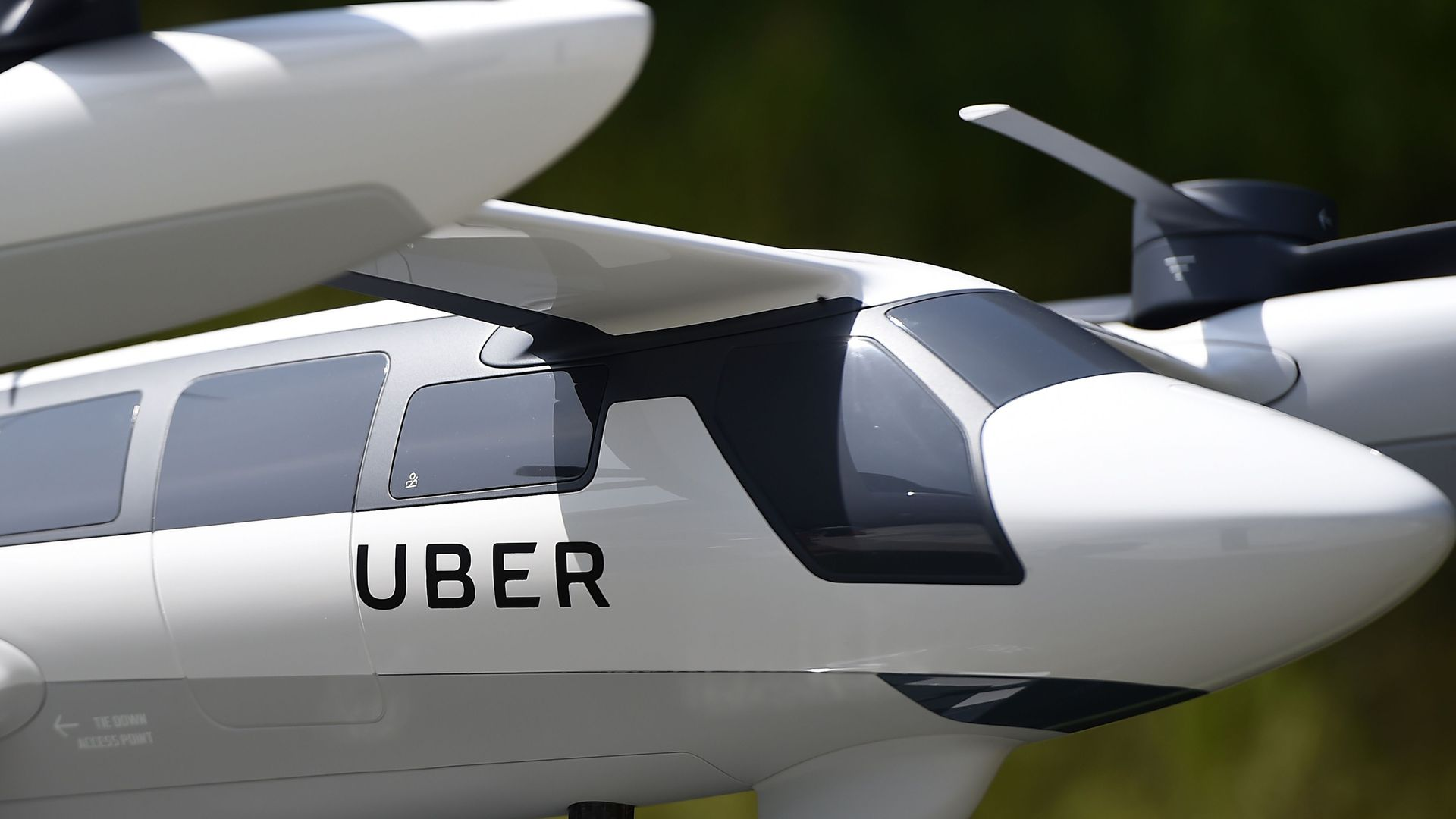 Flying car, plane concept from Uber Elevate