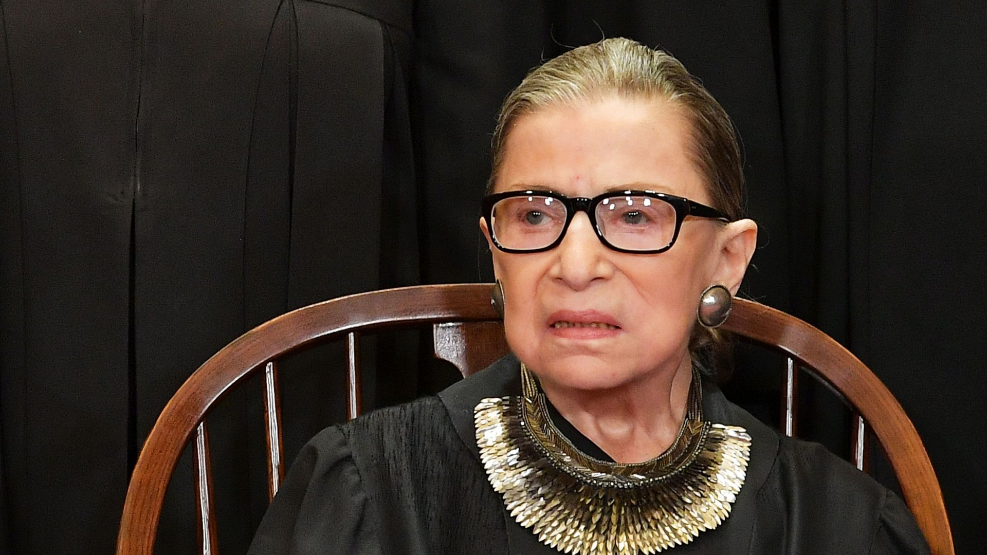 Ruth Bader Ginsburg in her garb