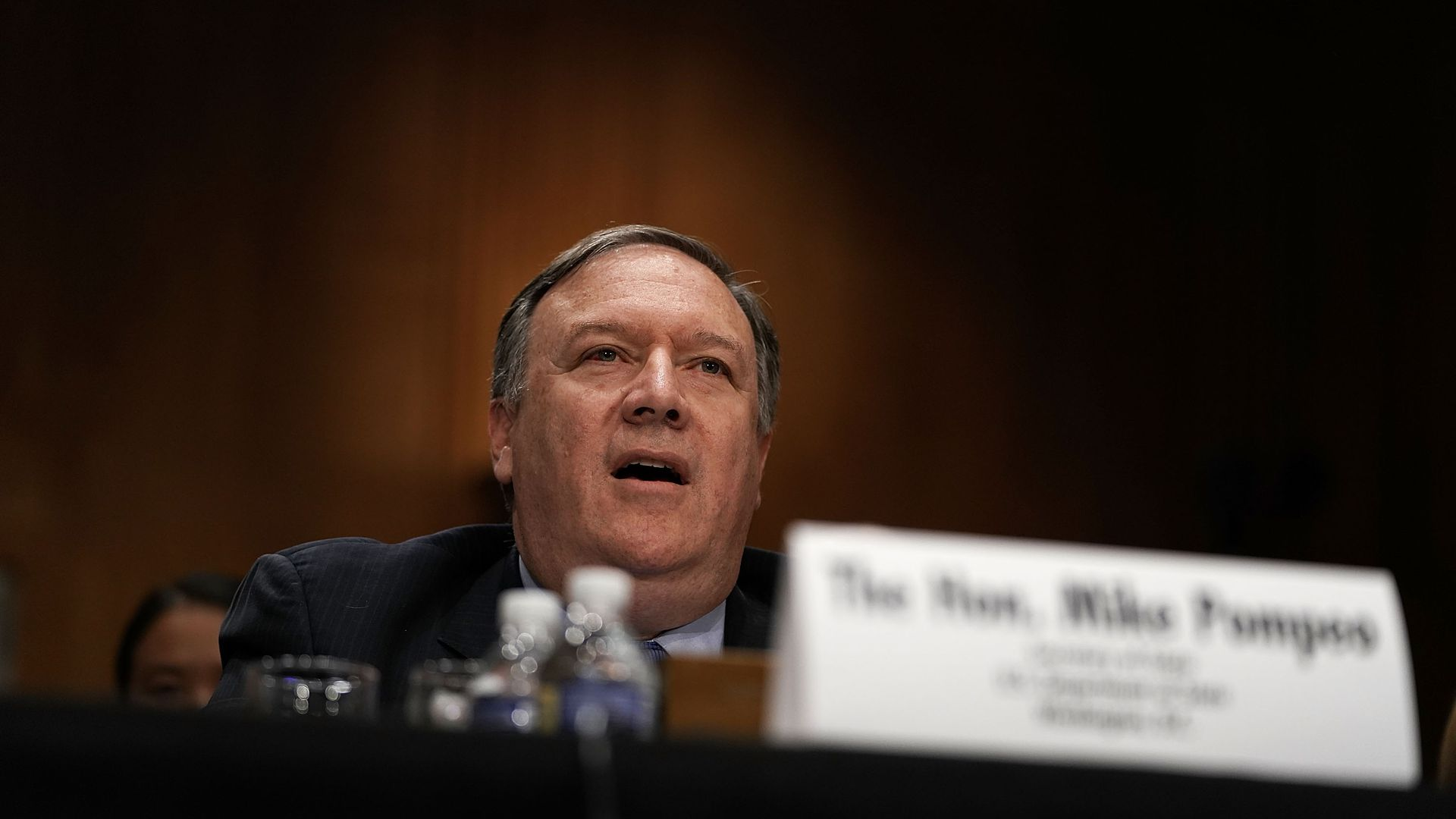 Secretary of State Mike Pompeo during a Senate hearing.