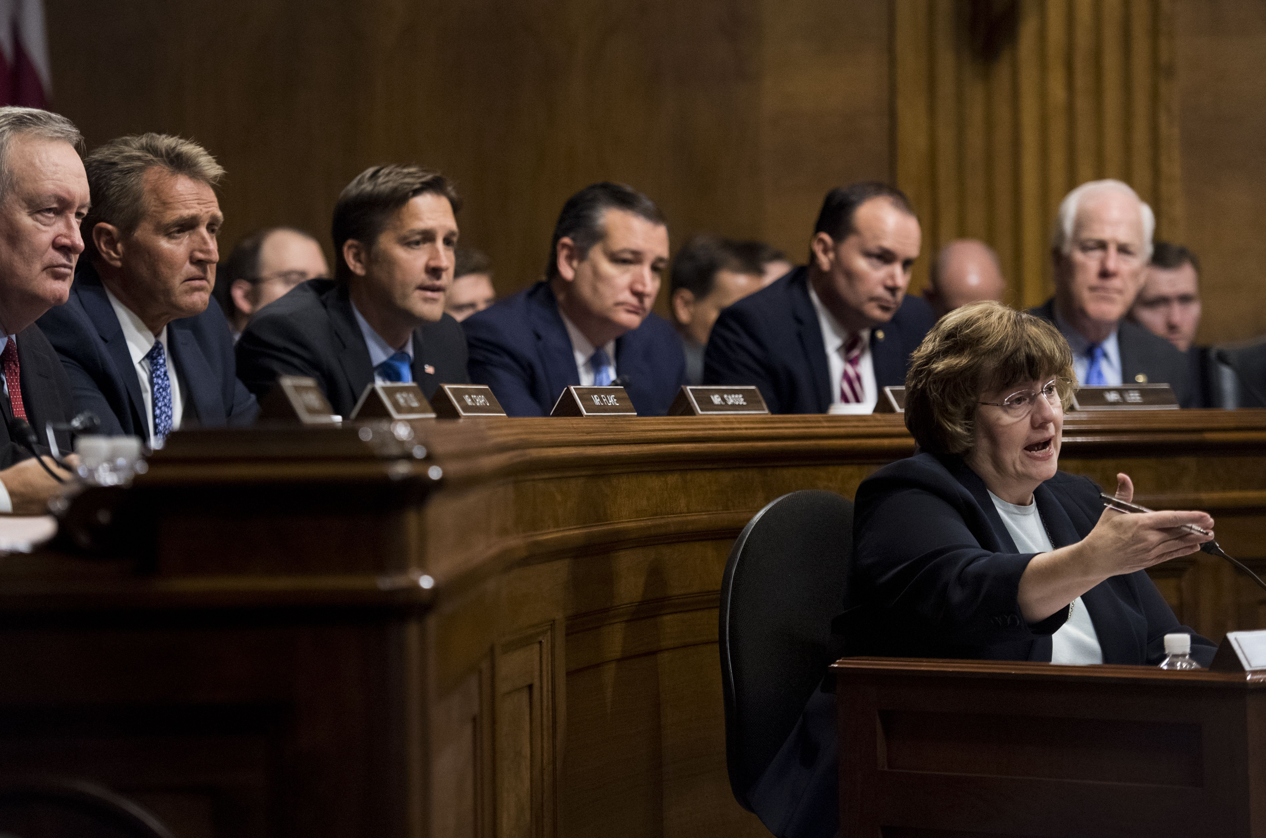 Rachel Mitchell, counsel for the Senate Judiciary Committee, questions Dr. Christine Blasey Ford