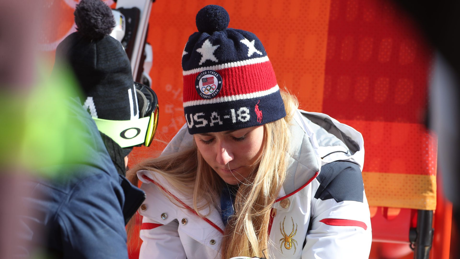 USA olympic skier disappointed