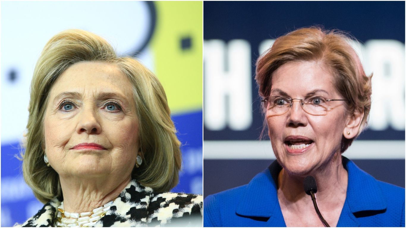 Clinton and Warren speaking the same night at Dem convention thumbnail