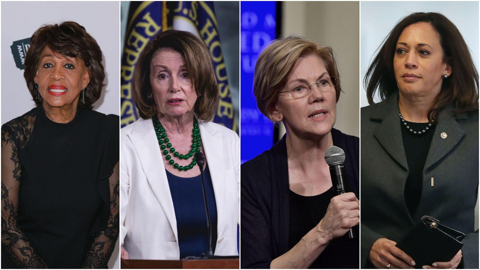 Waters, Pelosi, Warren, Harris